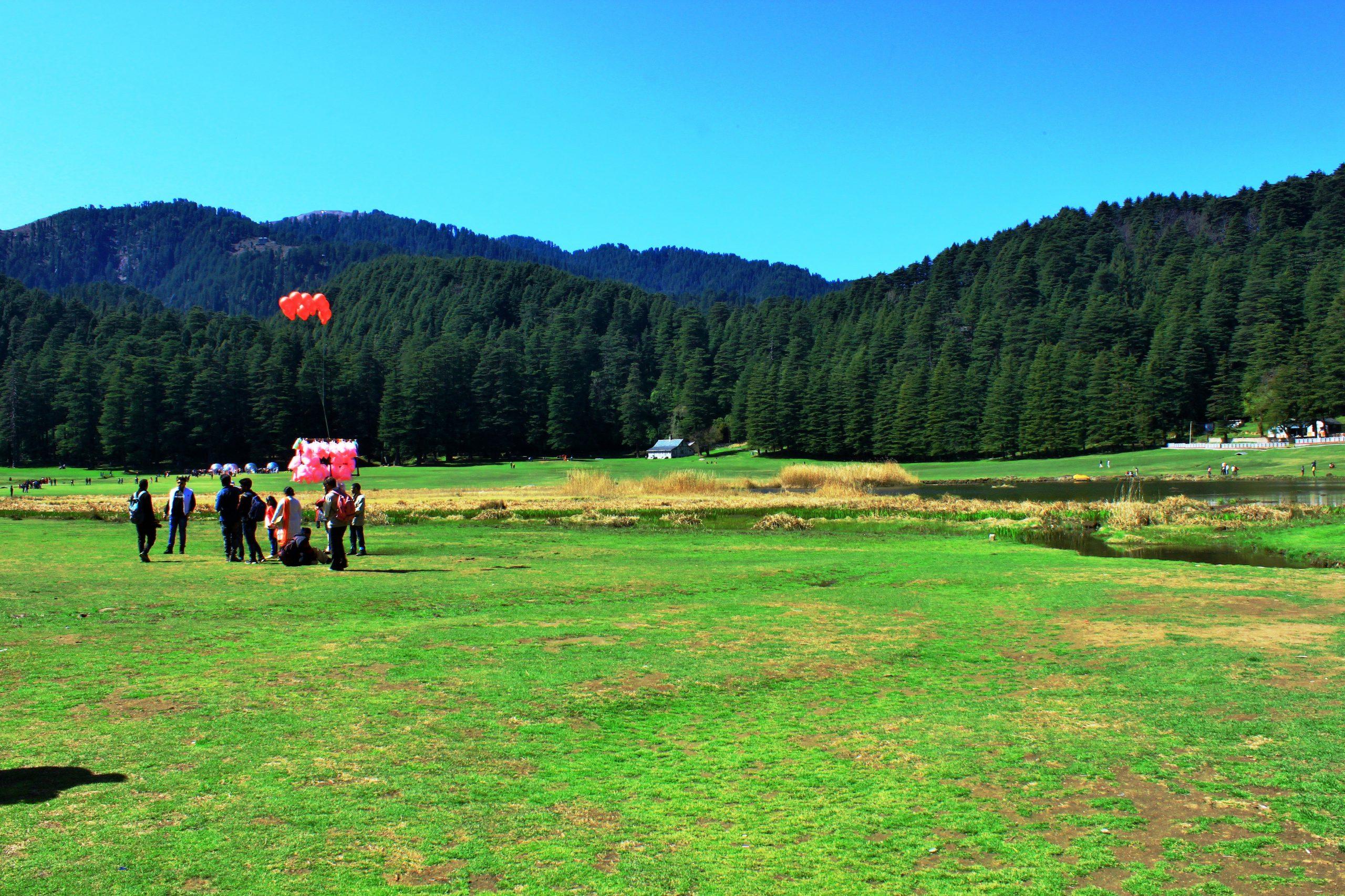 People at Khajjiar valley