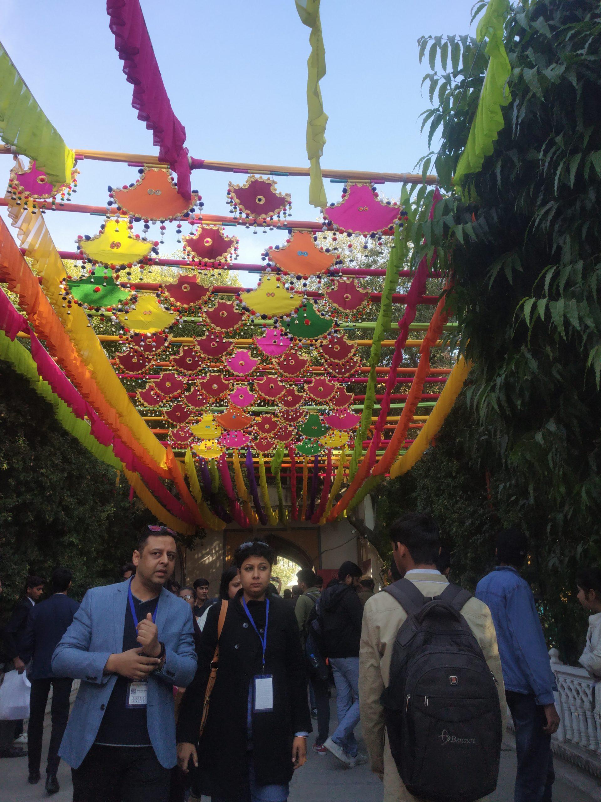 People in Jaipur literature festival