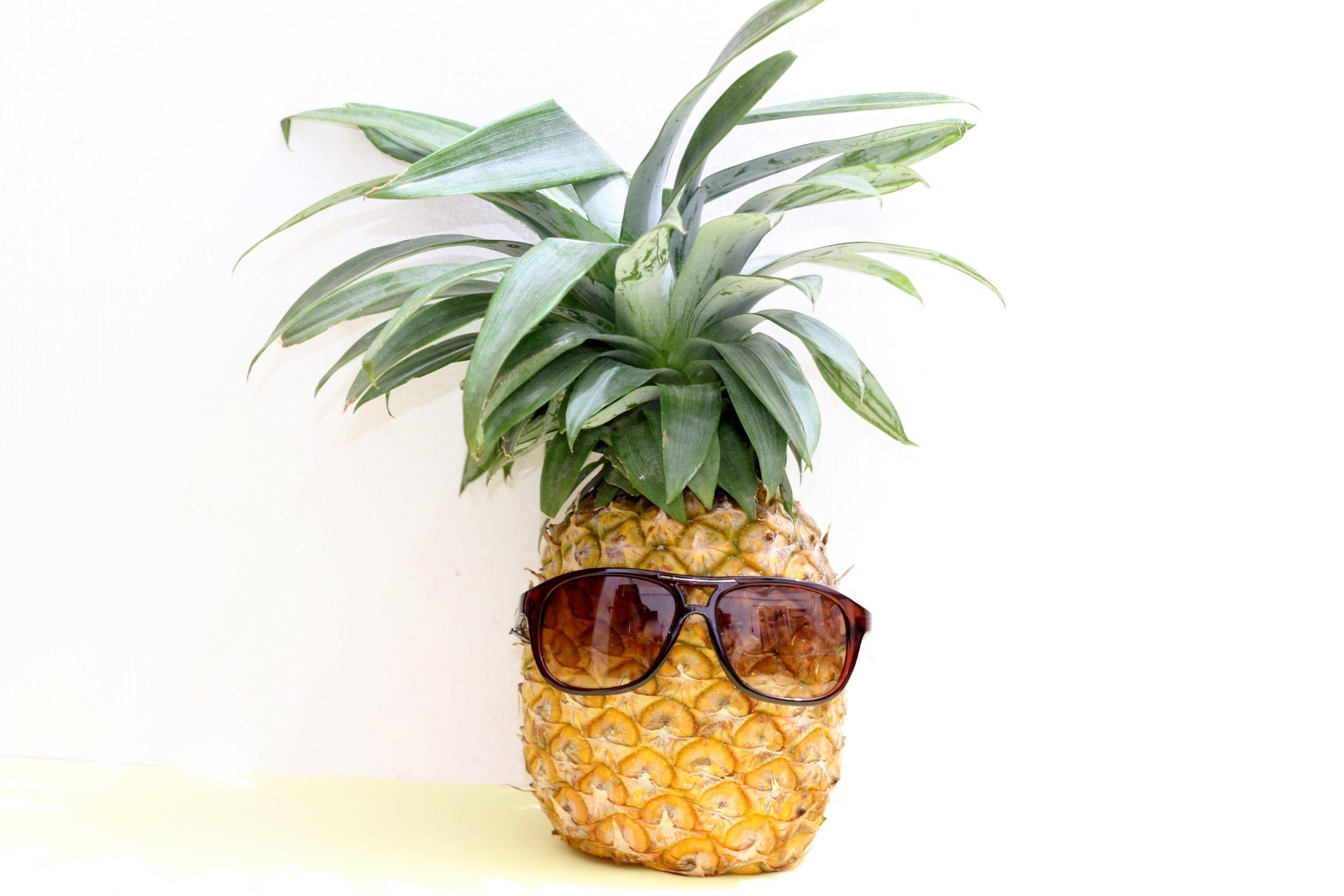 sunglasses on a pineapple