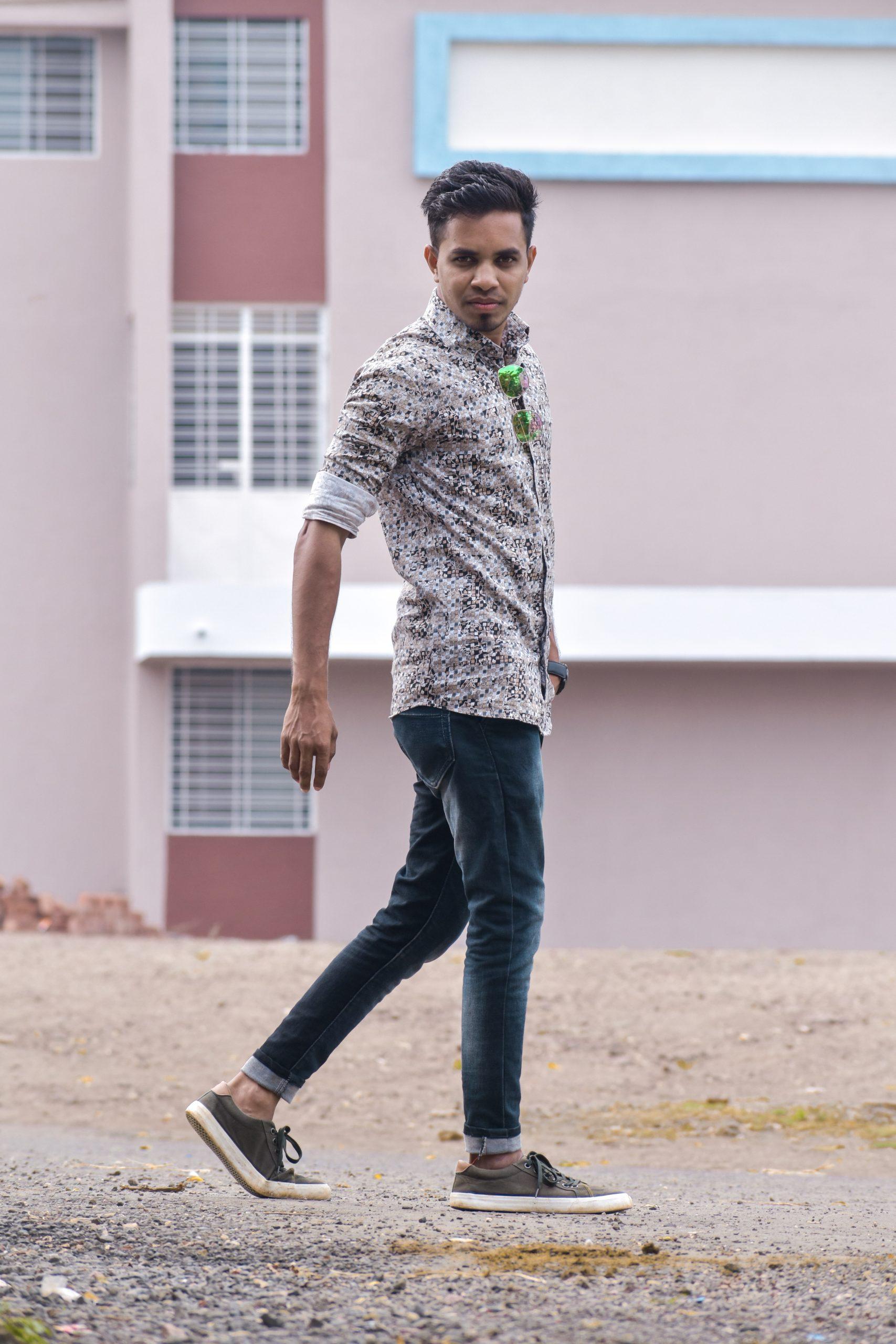 Portrait of a walking boy
