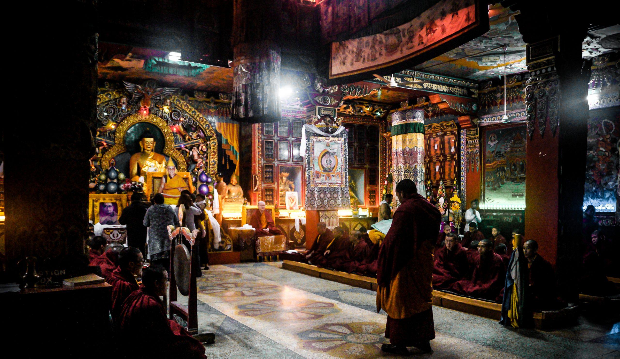 People in Buddha temple