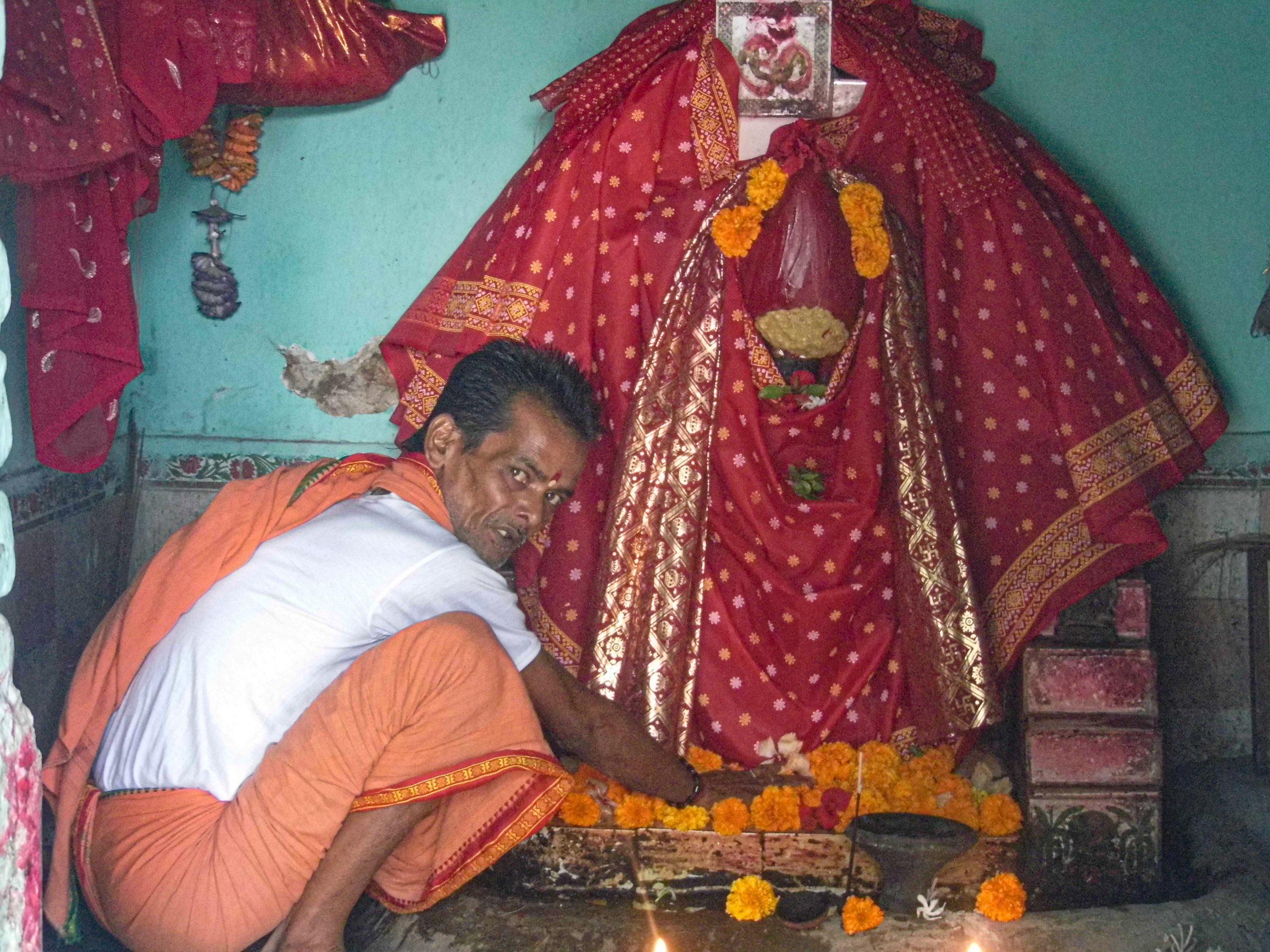 A Priest worshiping goddess