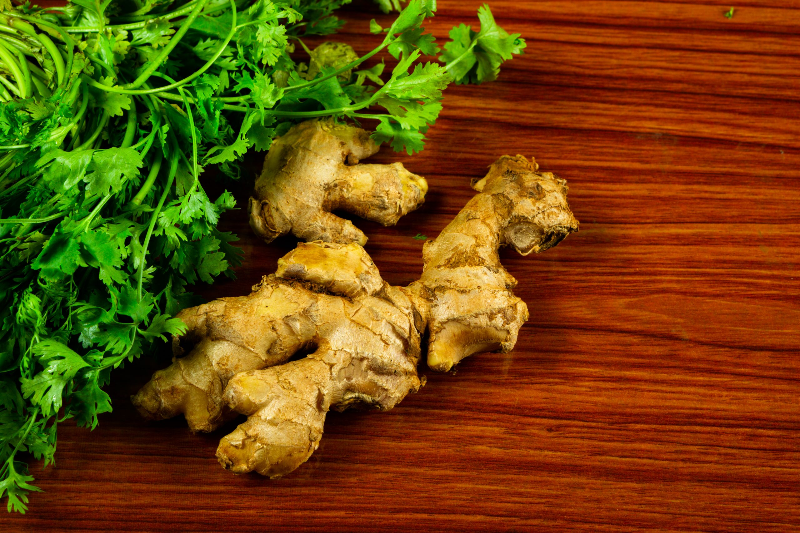 ginger and coriander