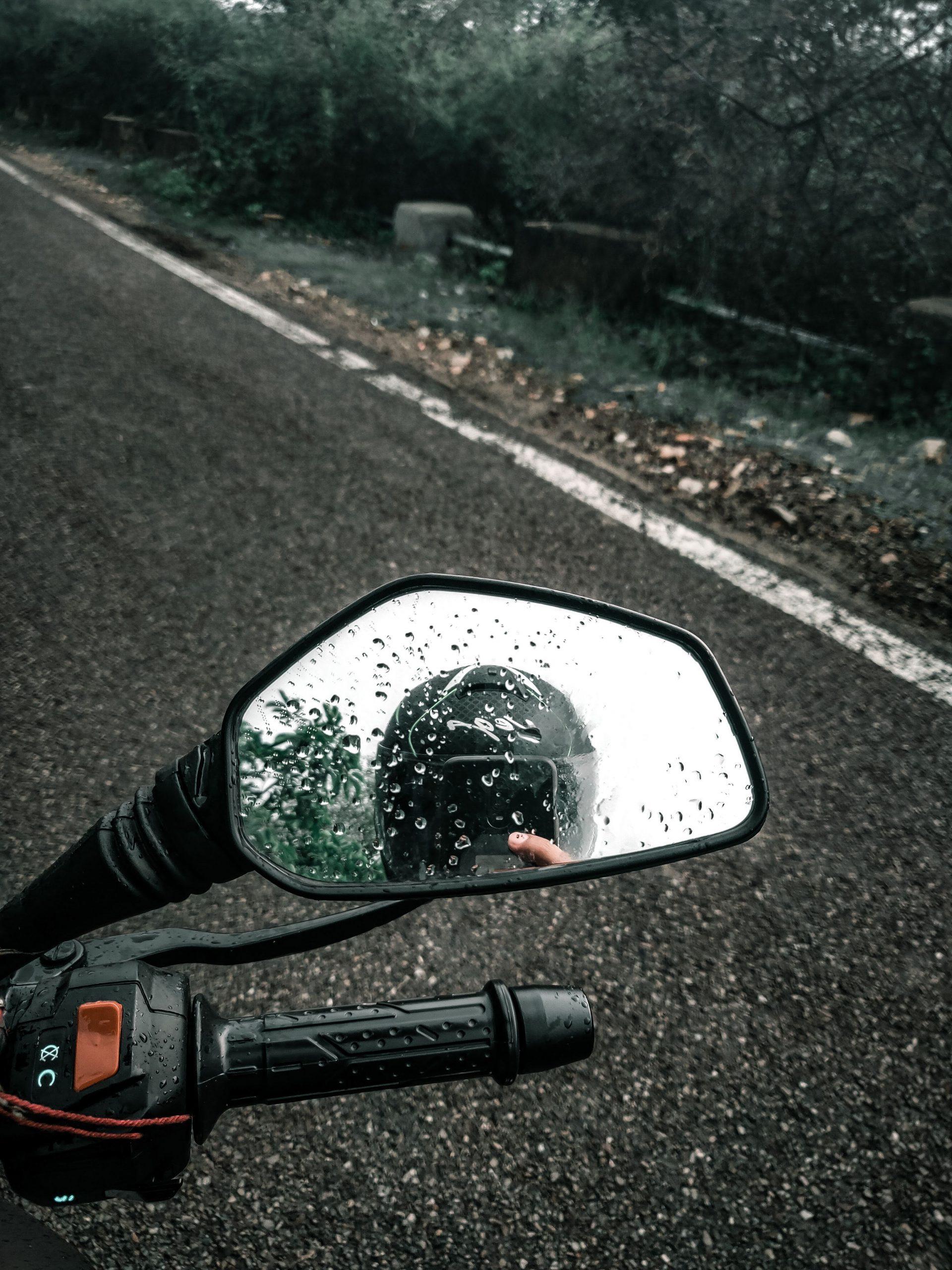Rear view mirror of a bike