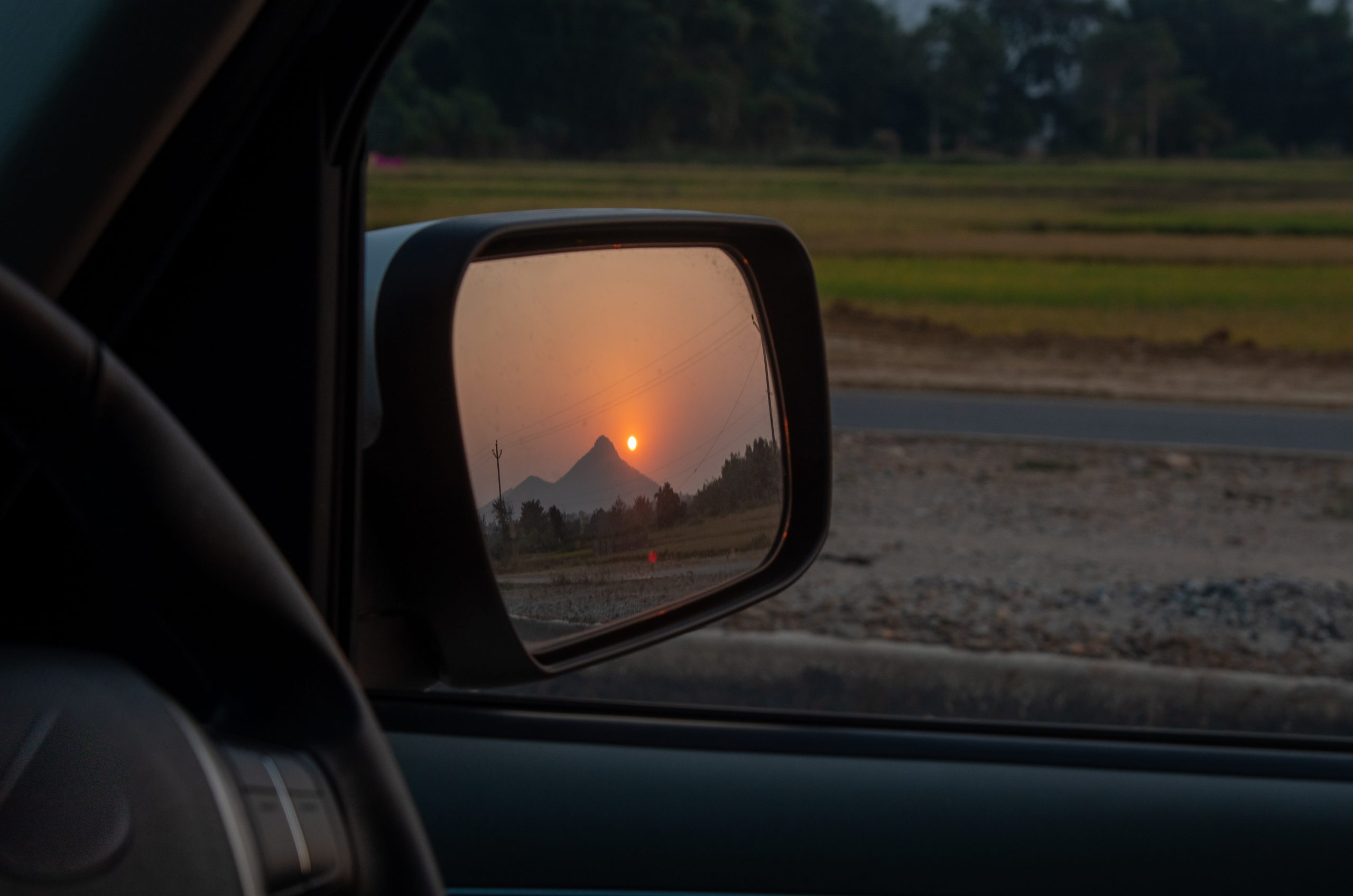 Rearview mirror of a car