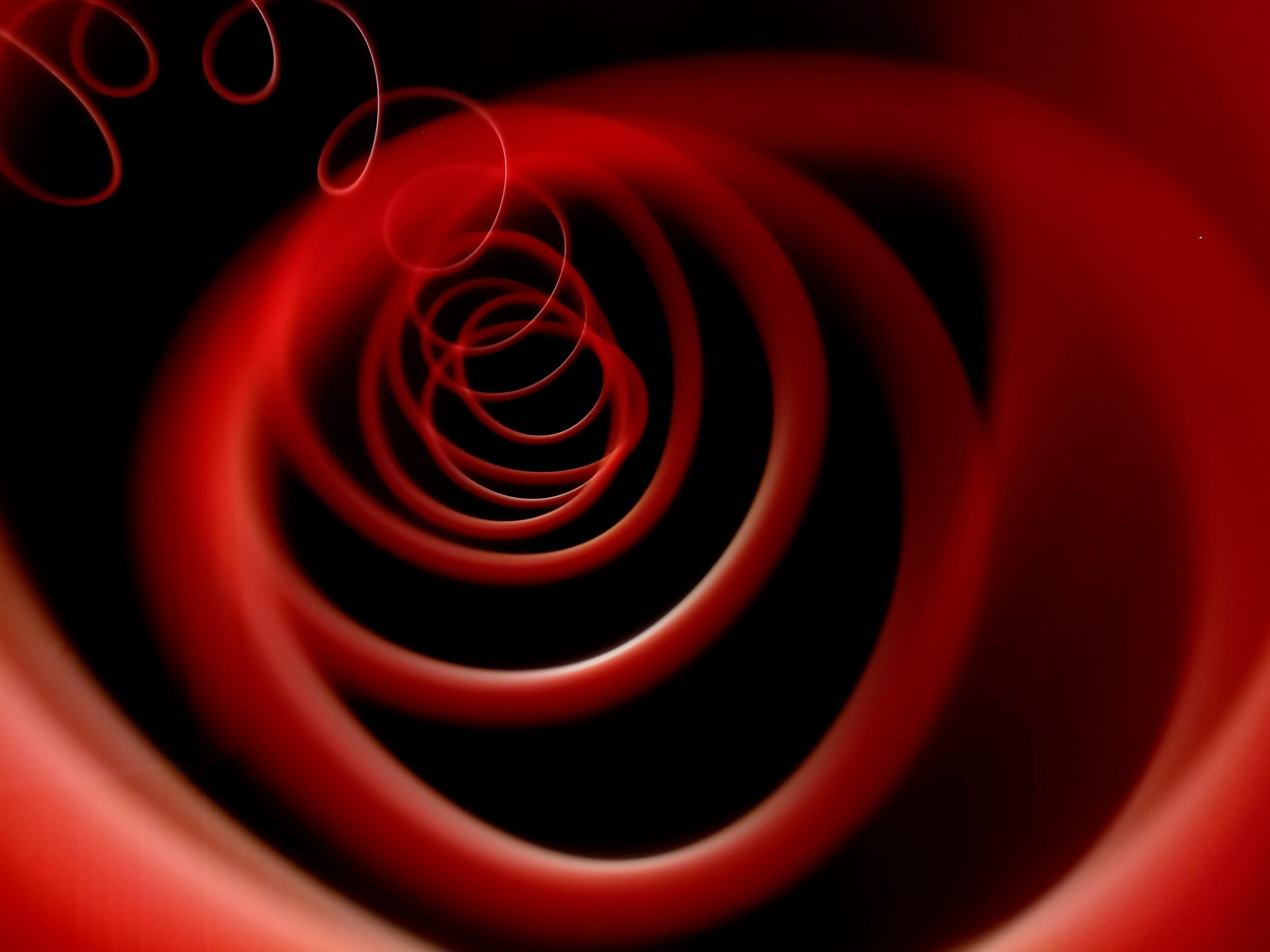 Spiral Red Trails