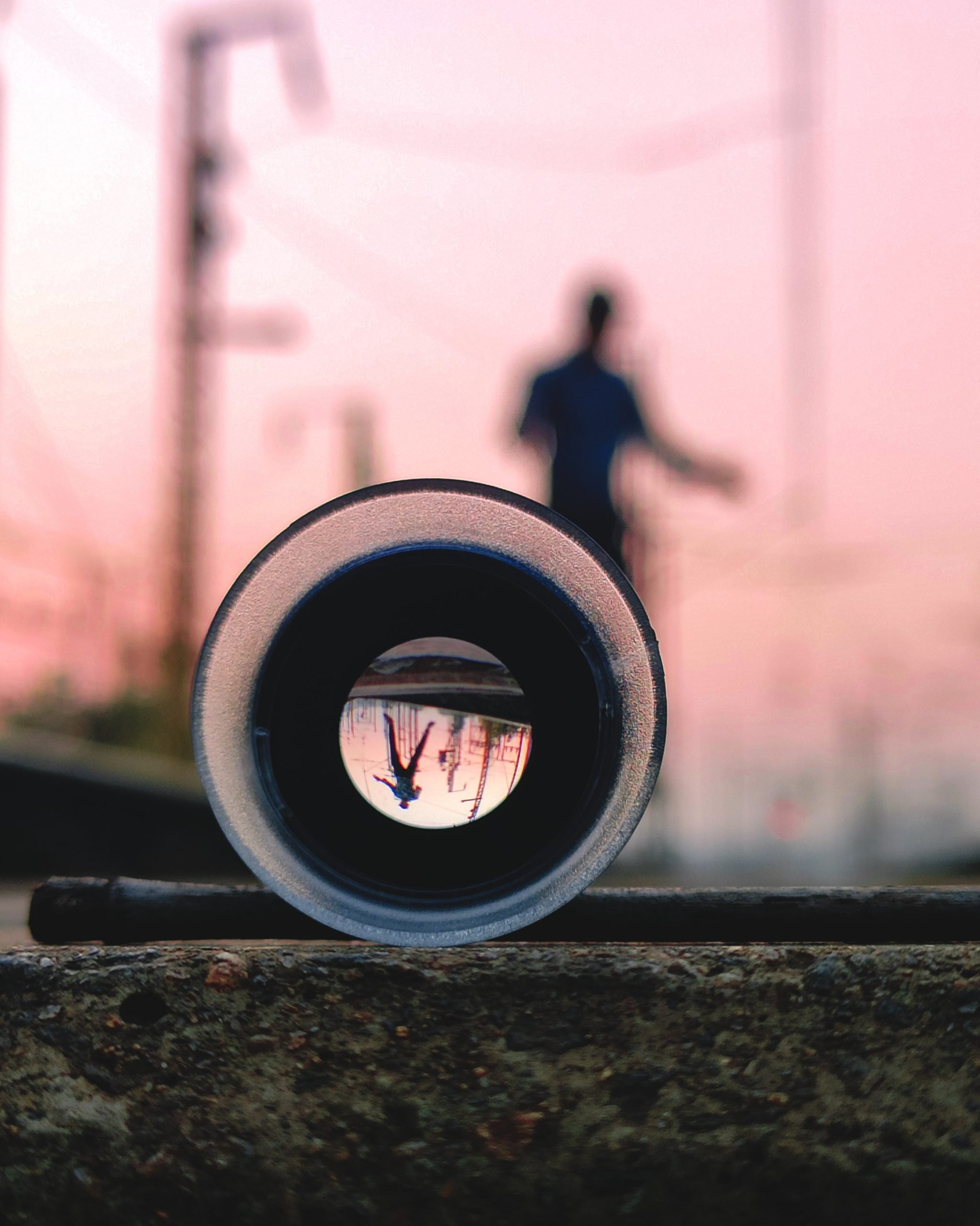 Reflection in a lens