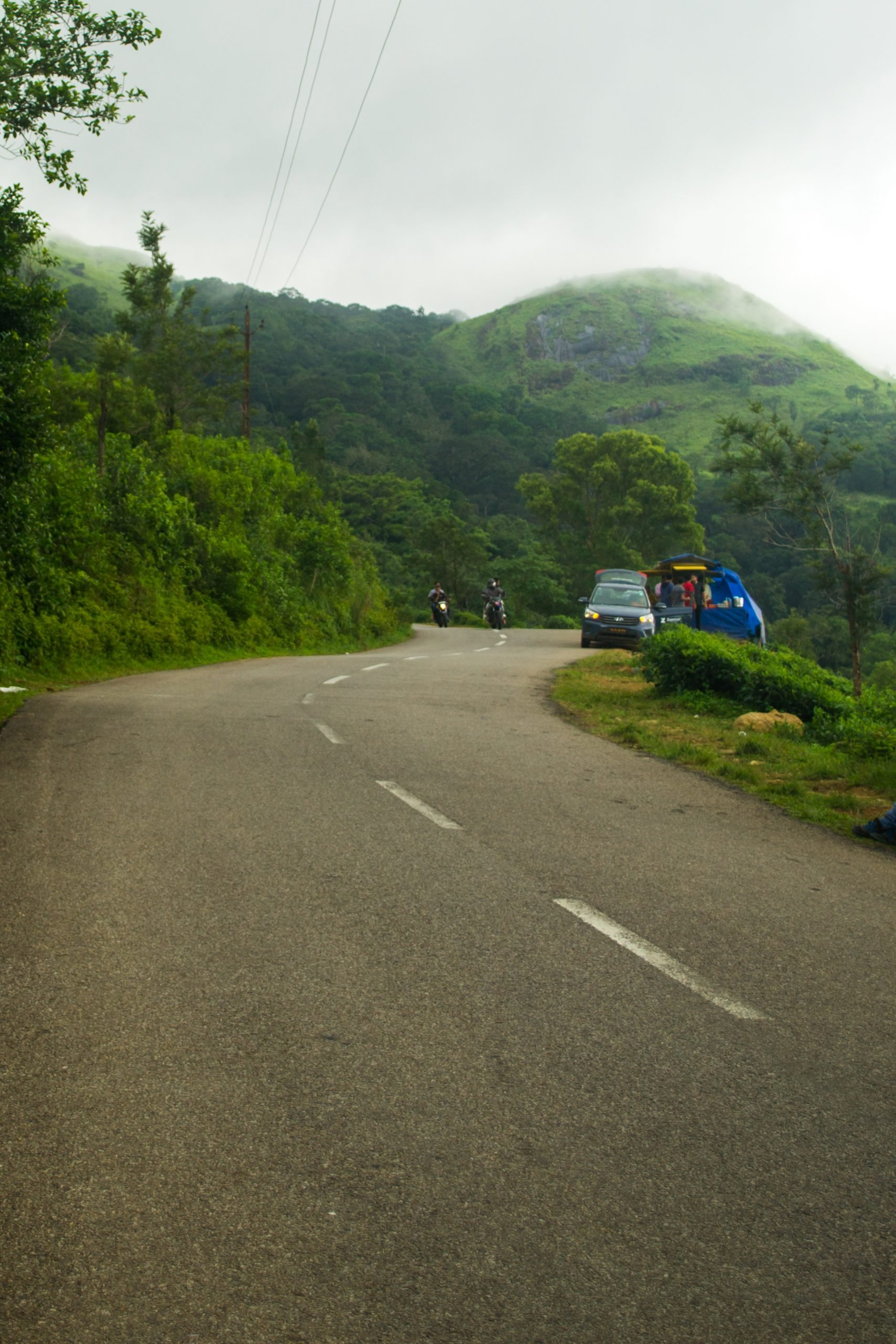 hilly road