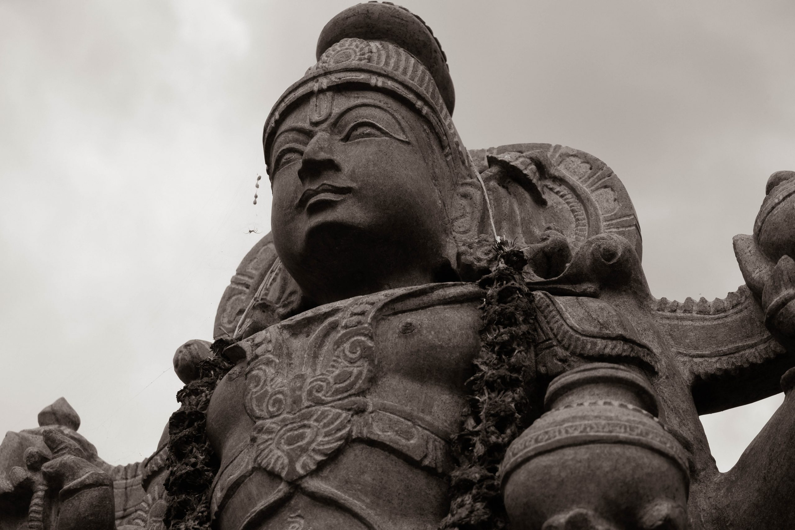 Rock statue of Hindu Goddess