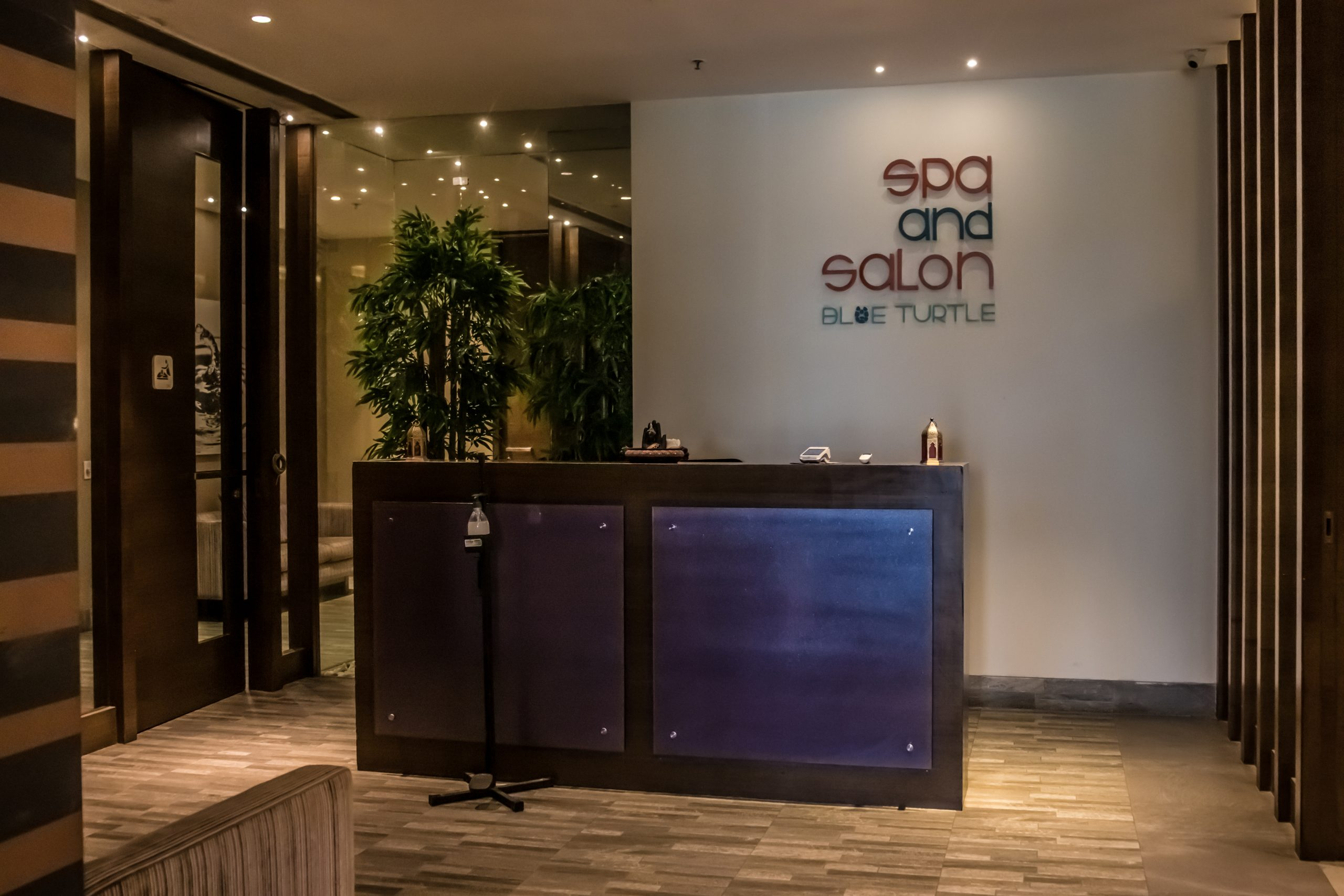 Reception of a salon and spa