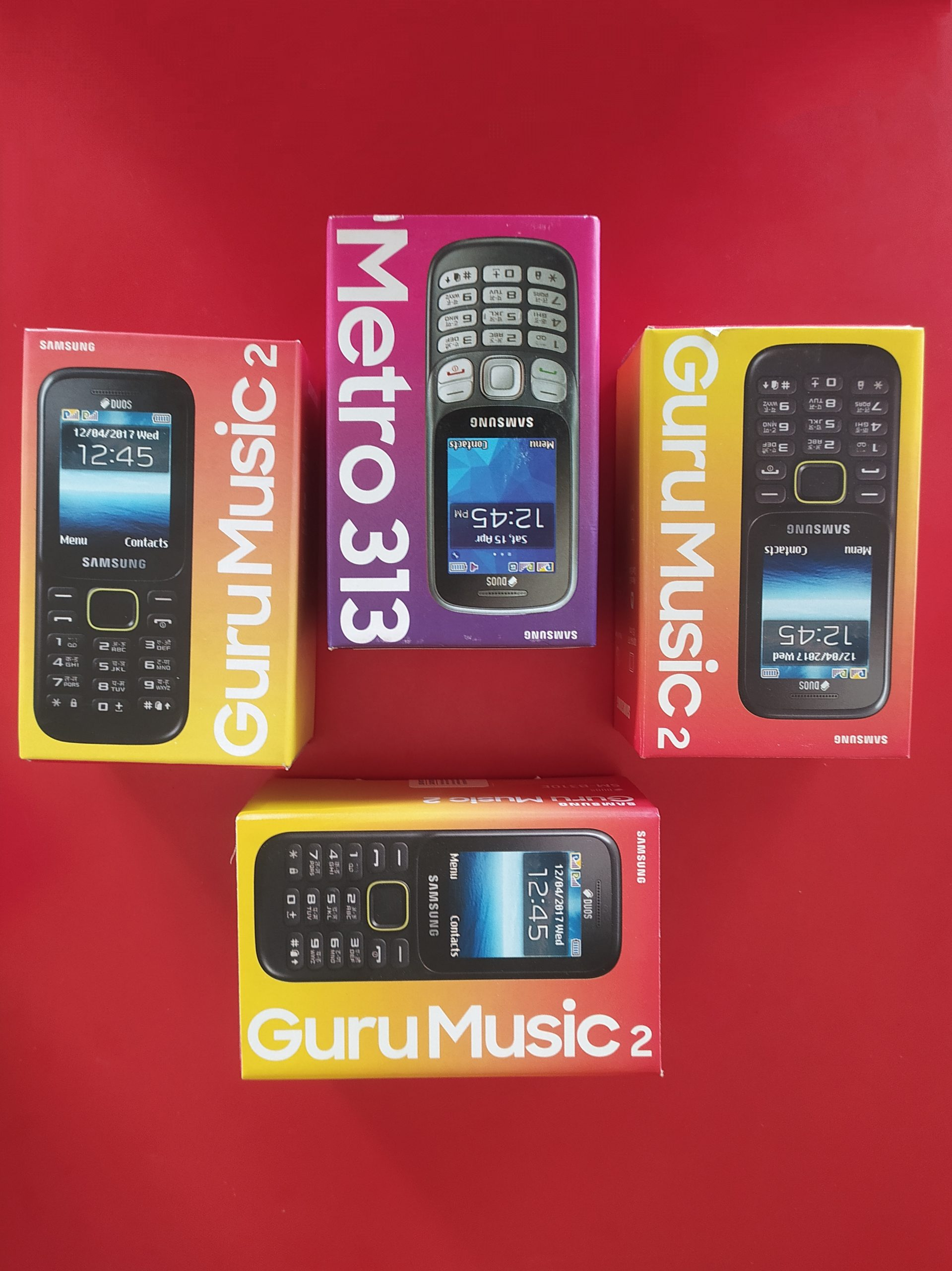 Mobile phone in boxes