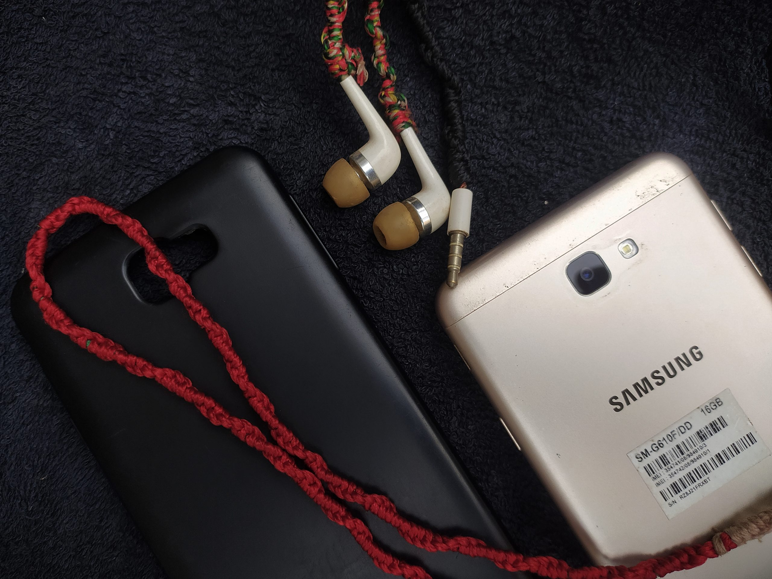 mobile, case, earphones
