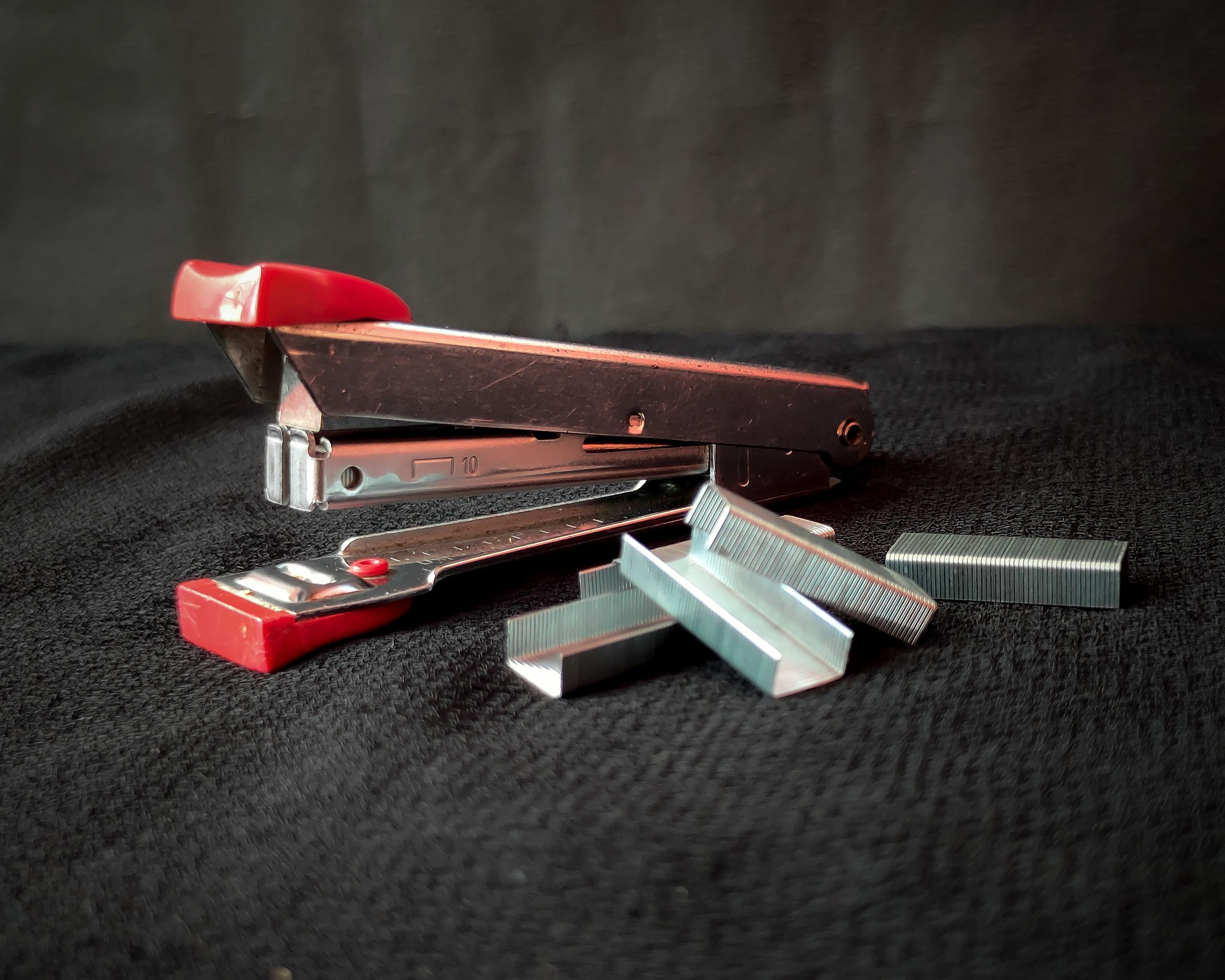 stapler and pins