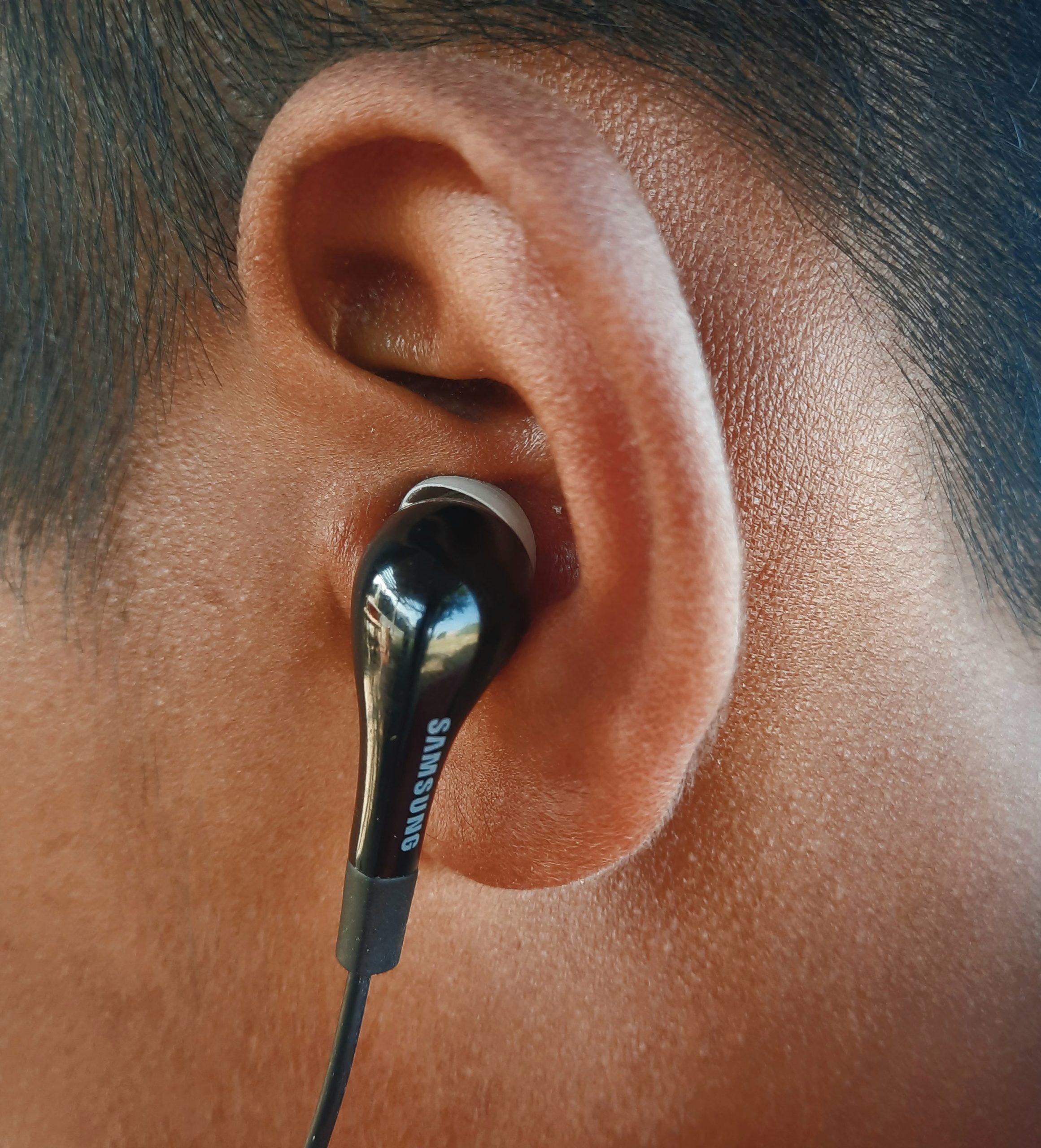 Earphones in ear
