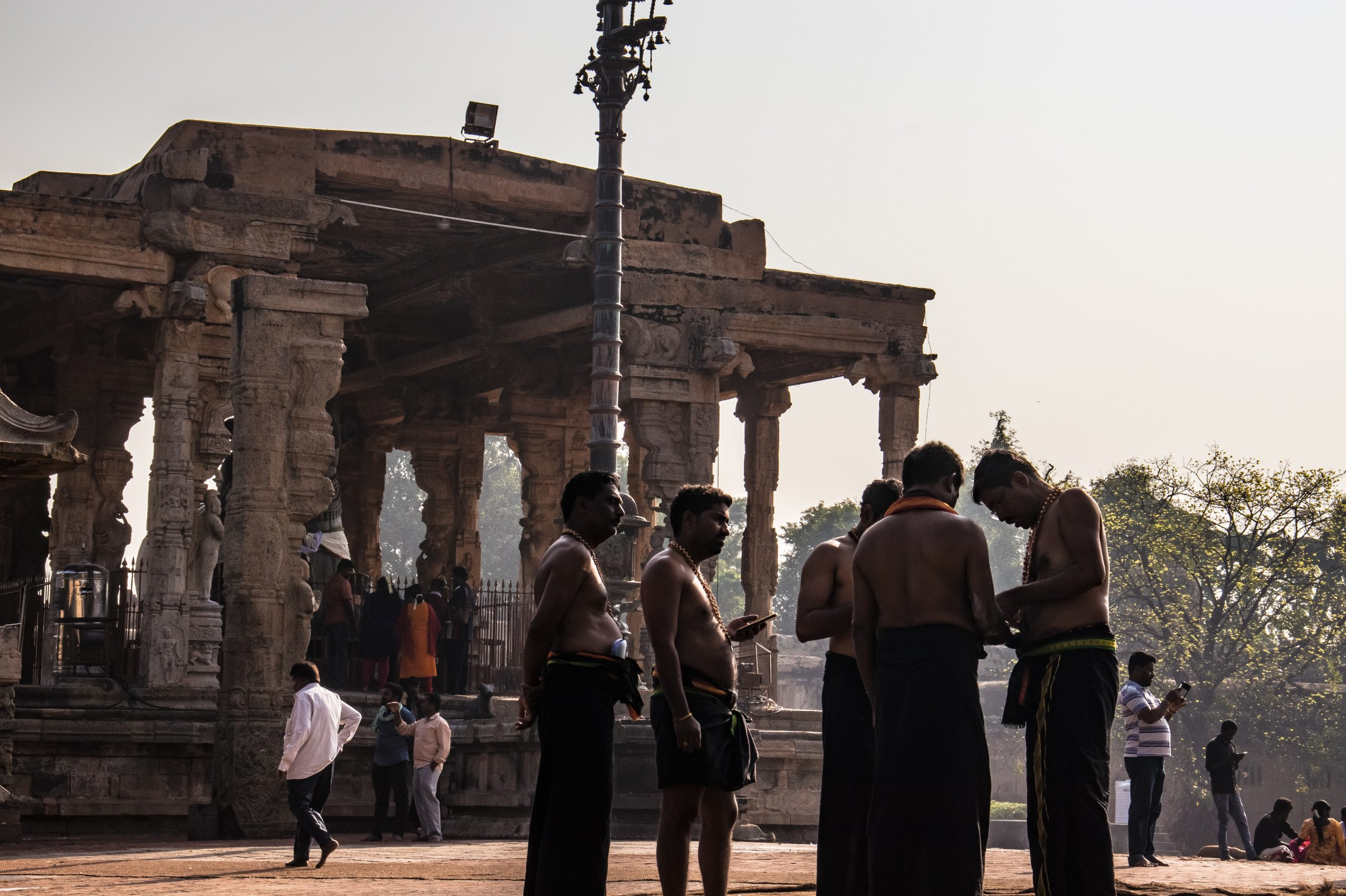 People at a Hindu temple
