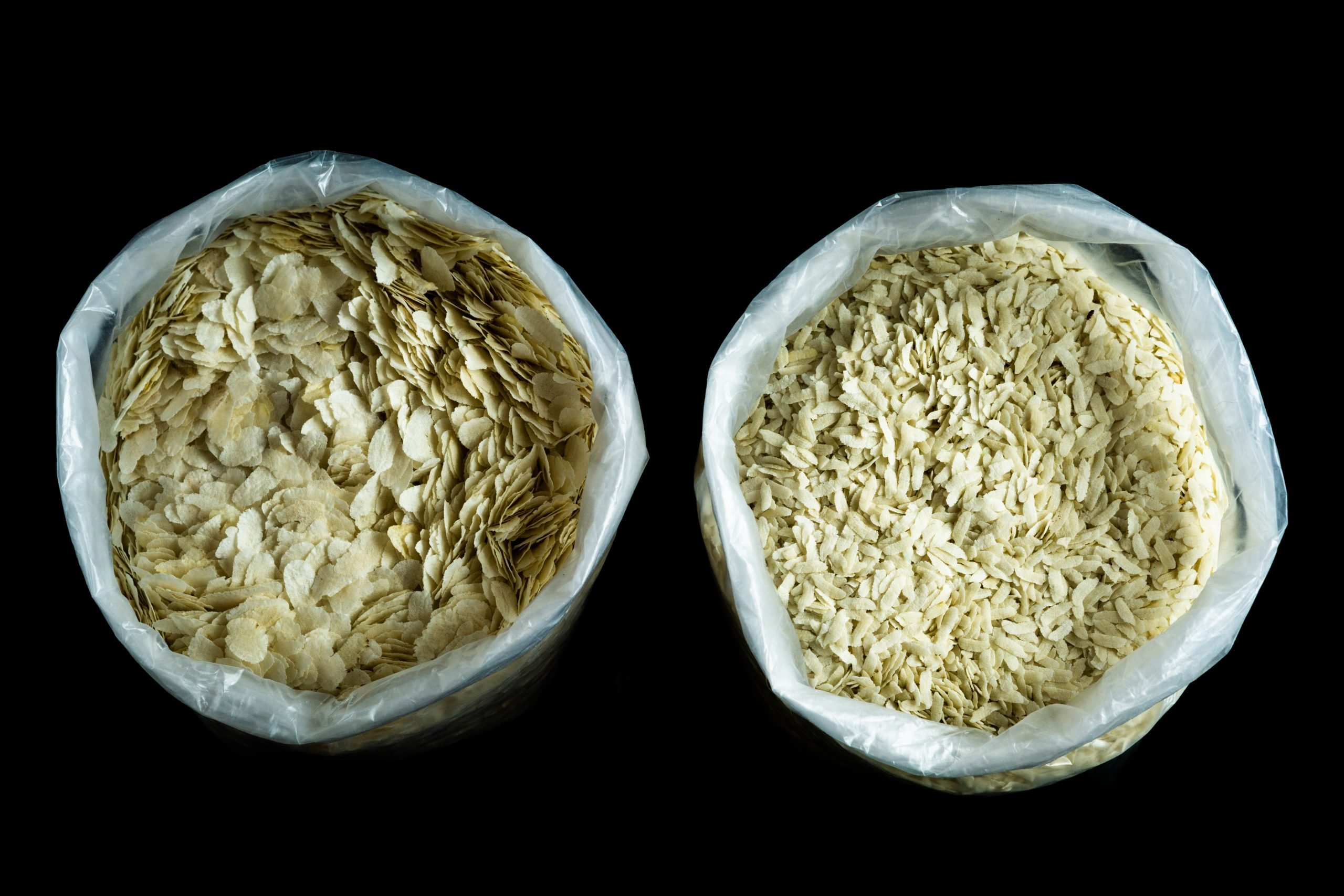 poha rice flakes in bags