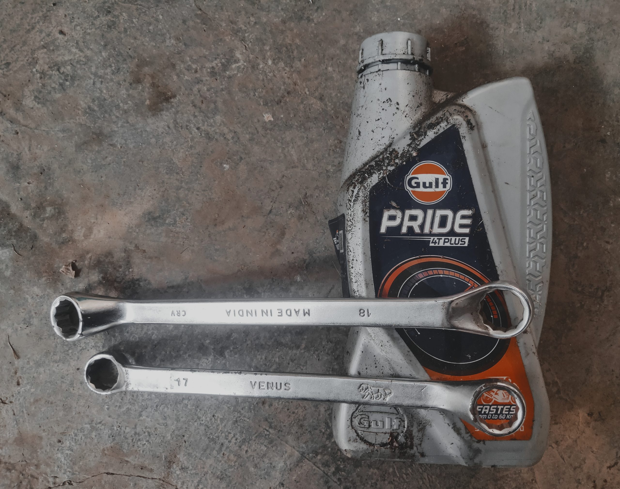 Ring spanner and auto oil