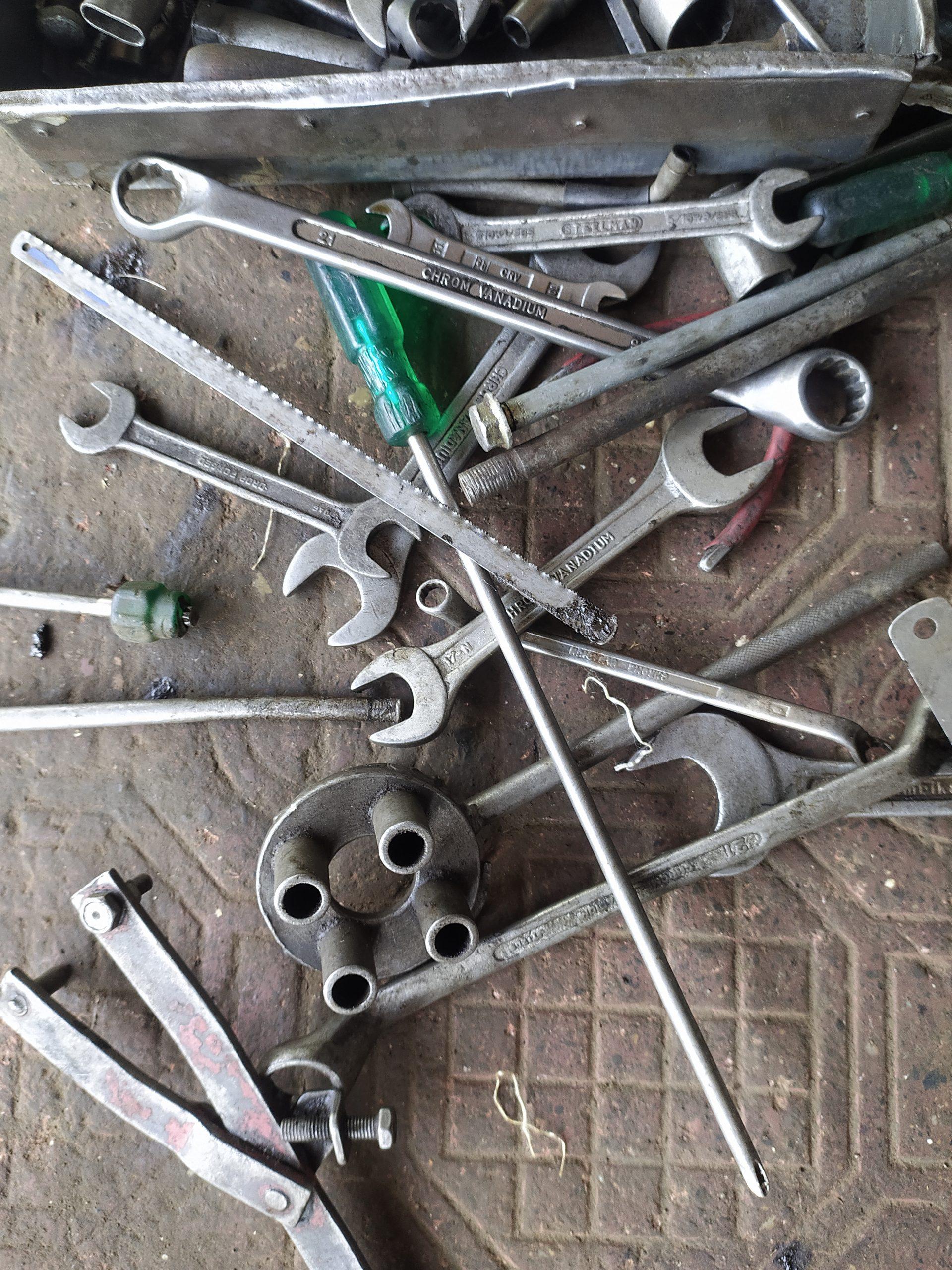 Tools of a mechanic