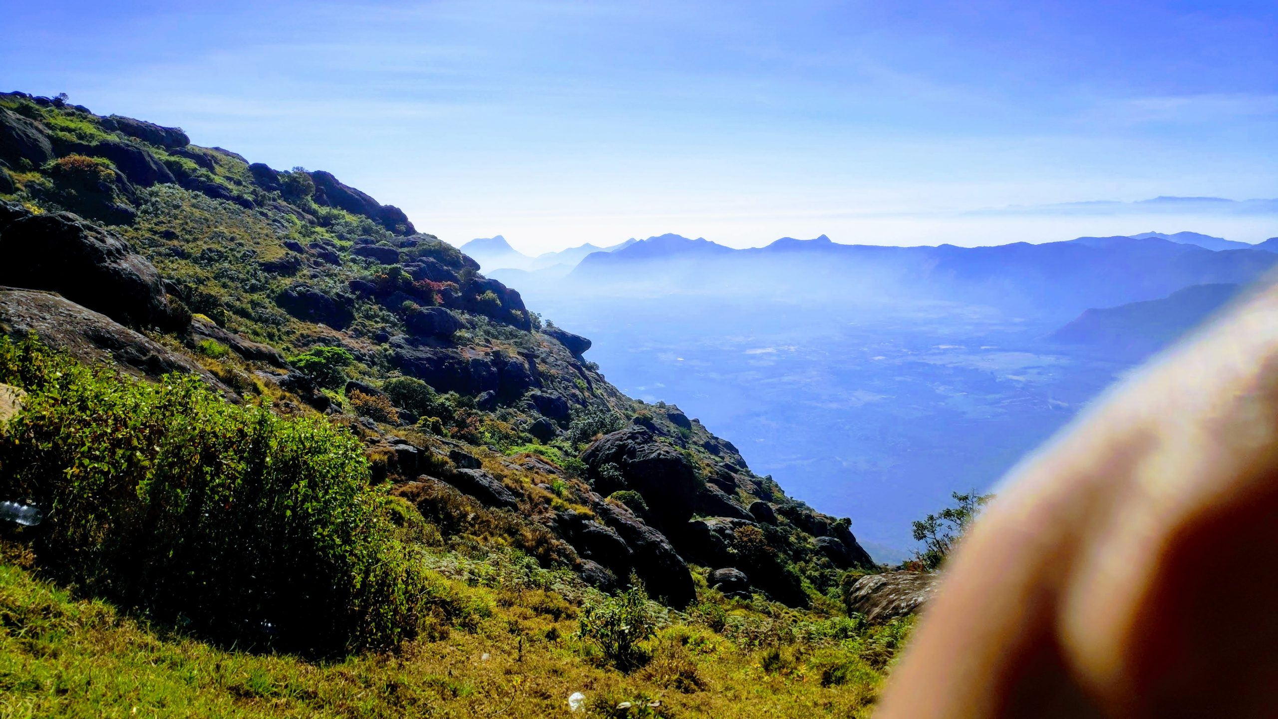 Top of a mountain