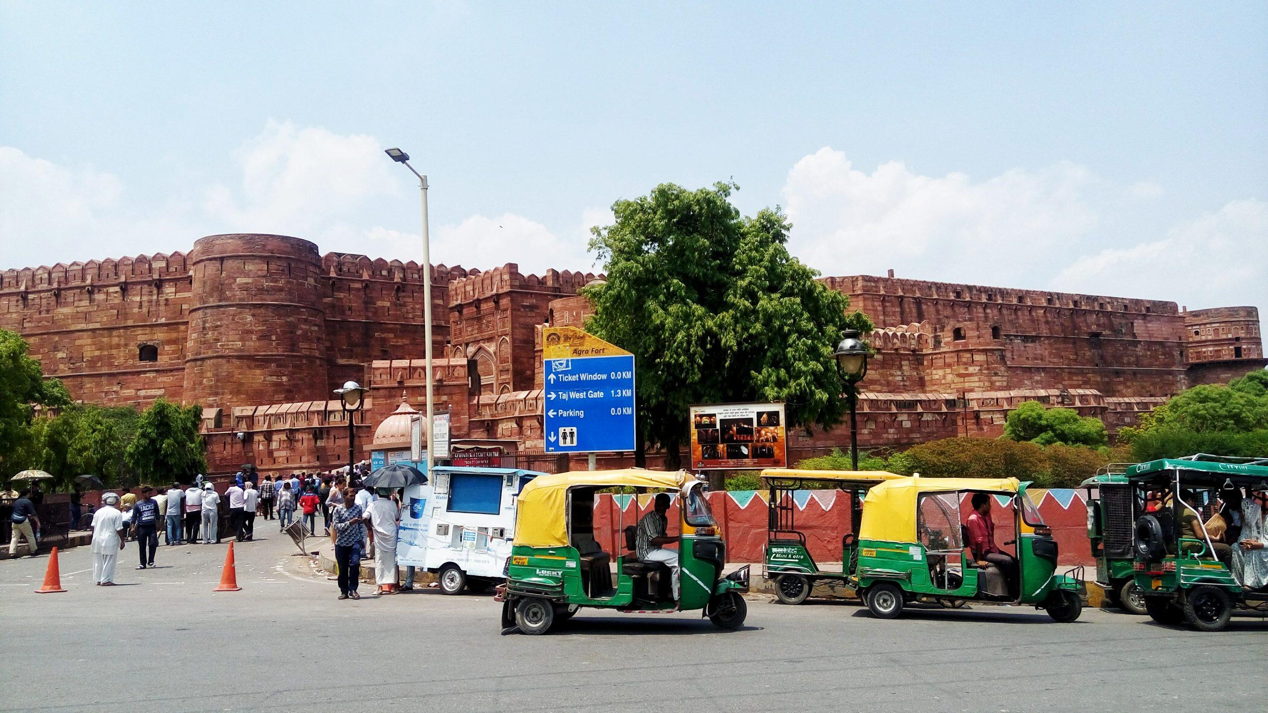 Traffic near a fort