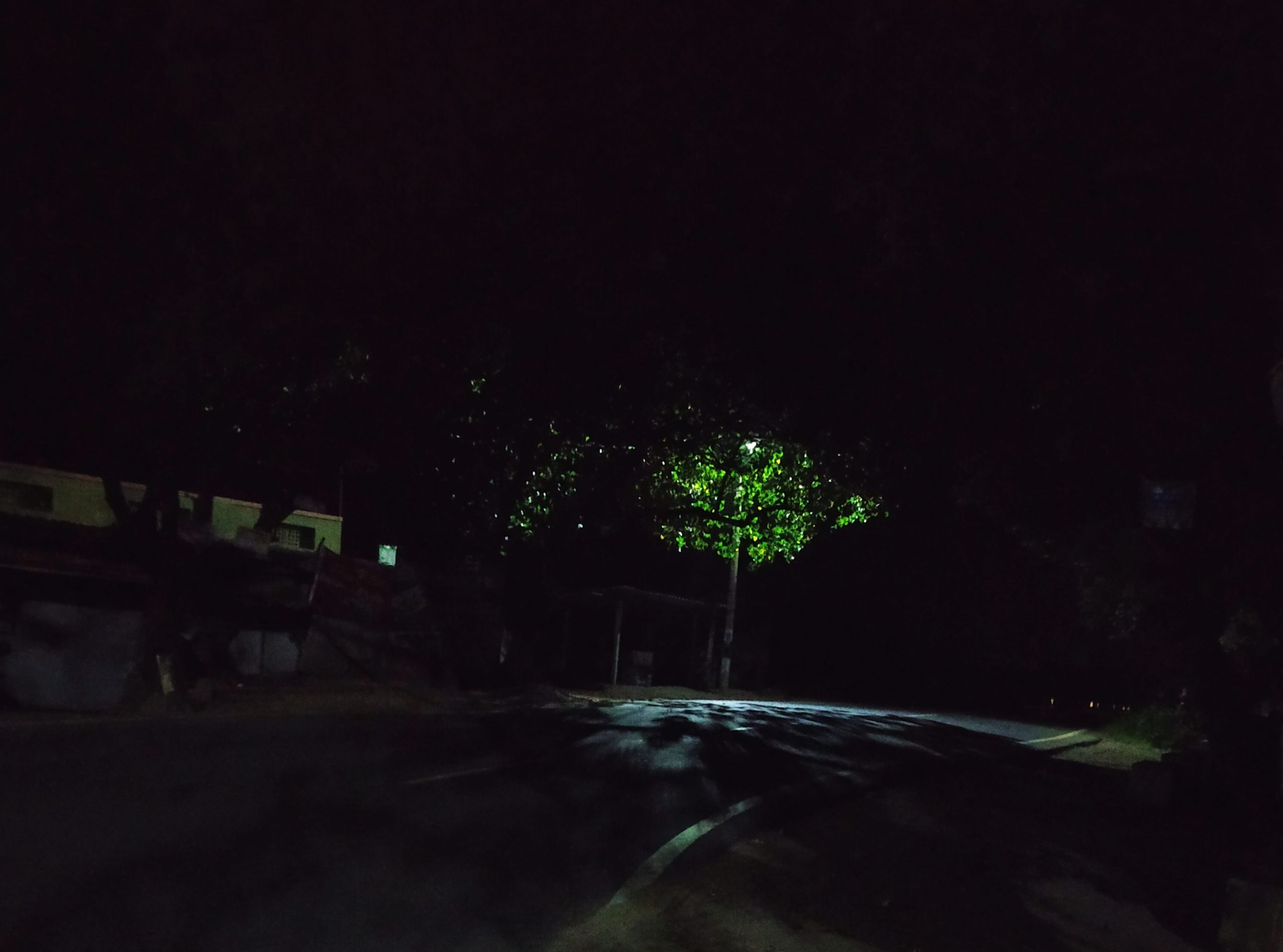 A road in midnight