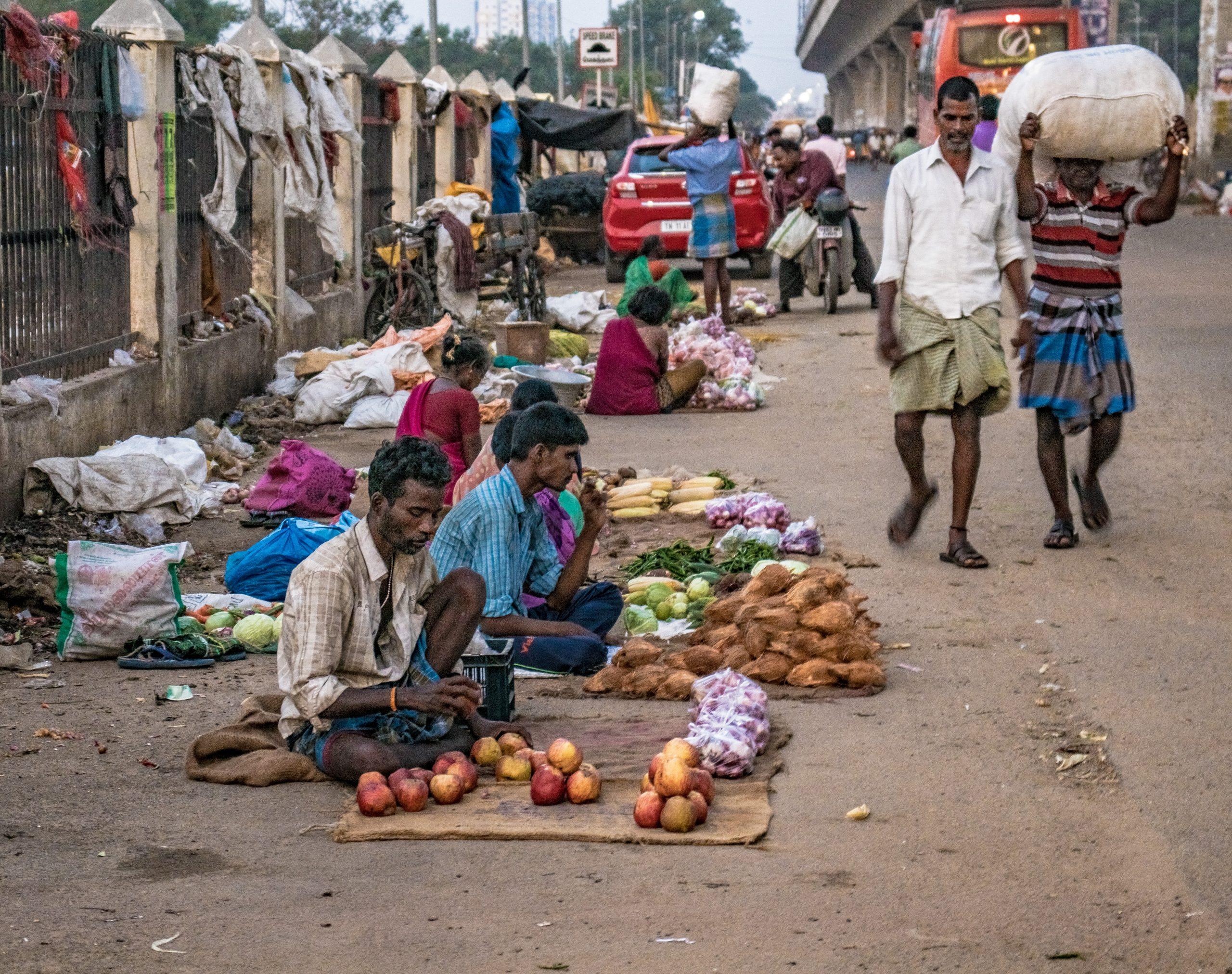 vendors on a street