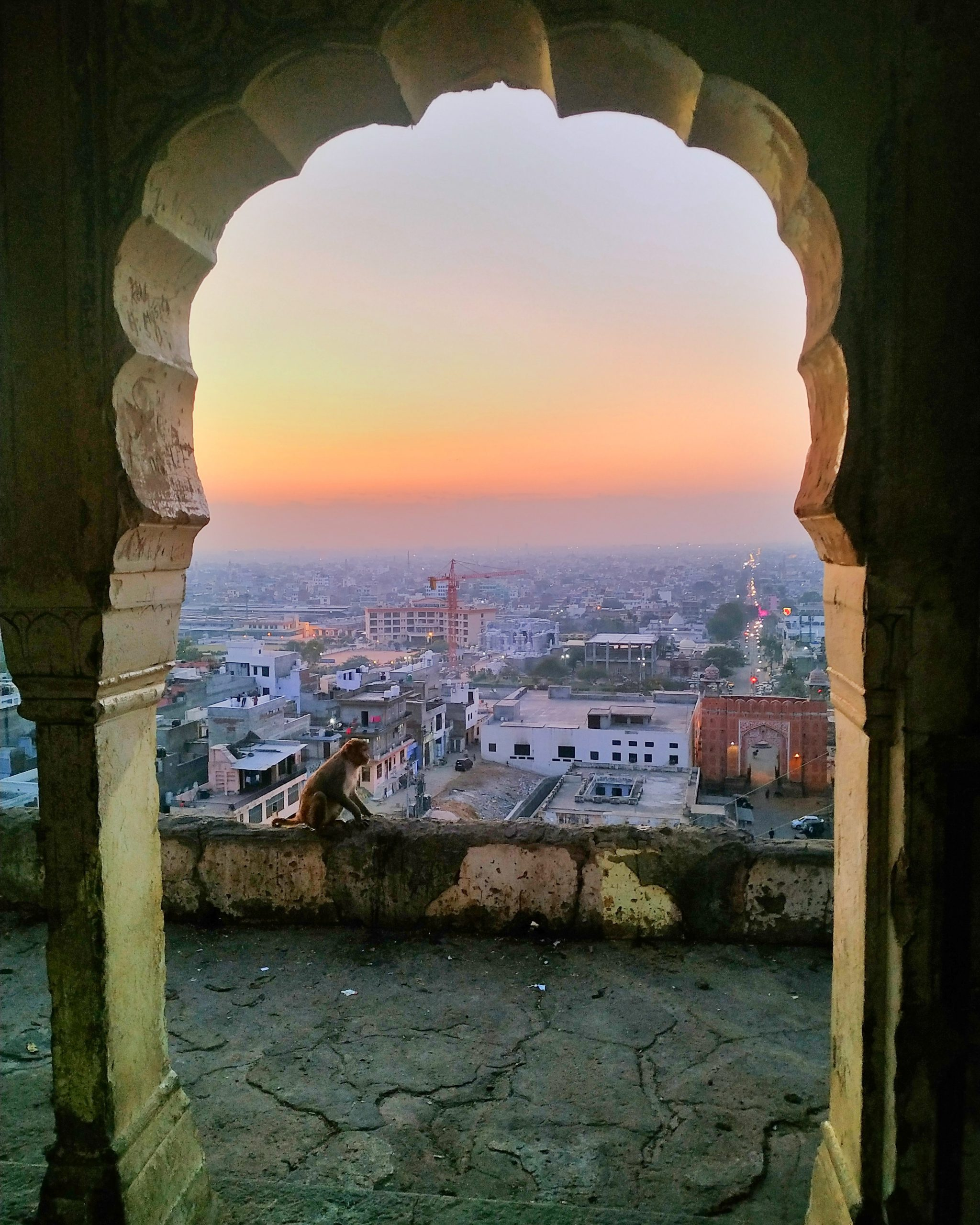 View of Jaipur city from an arch