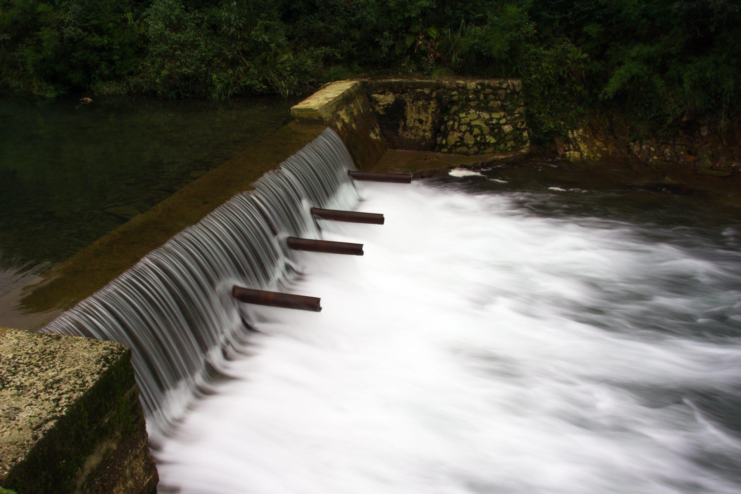 A mini water fall