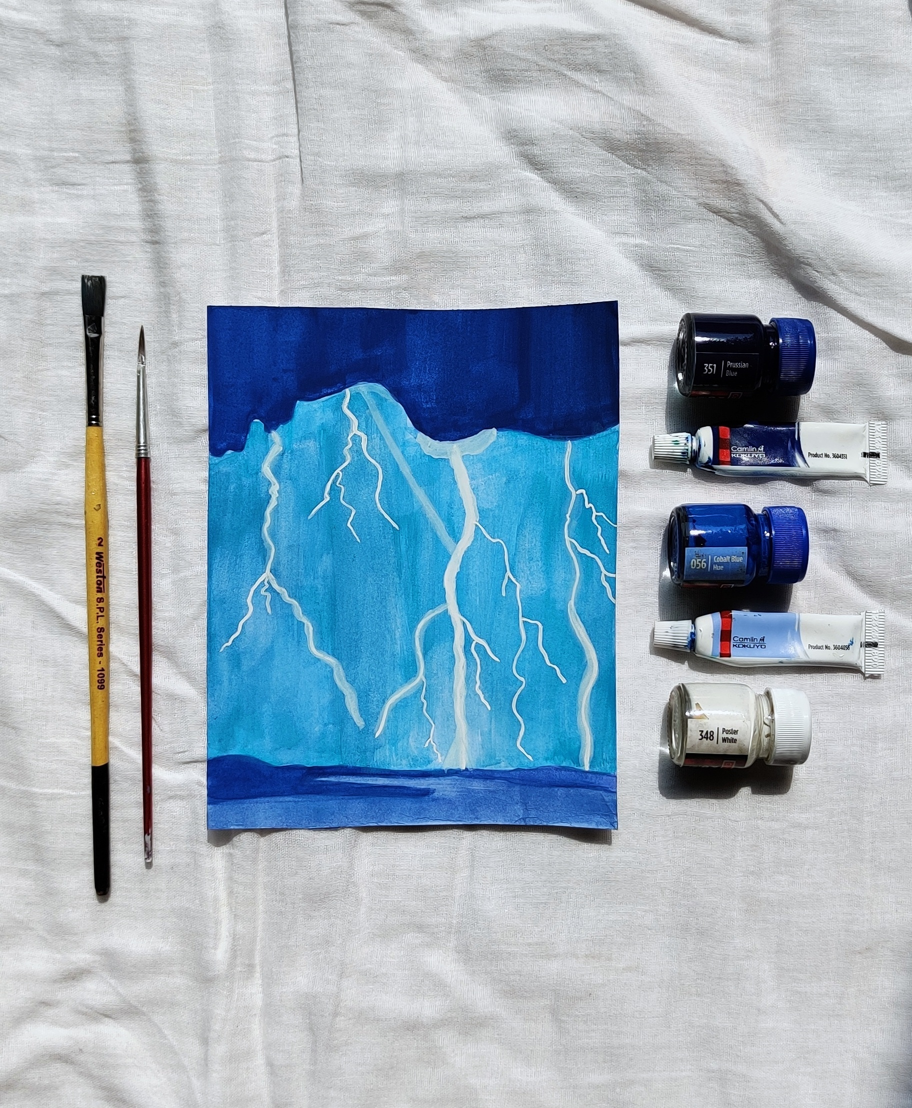 Watercolors and painting