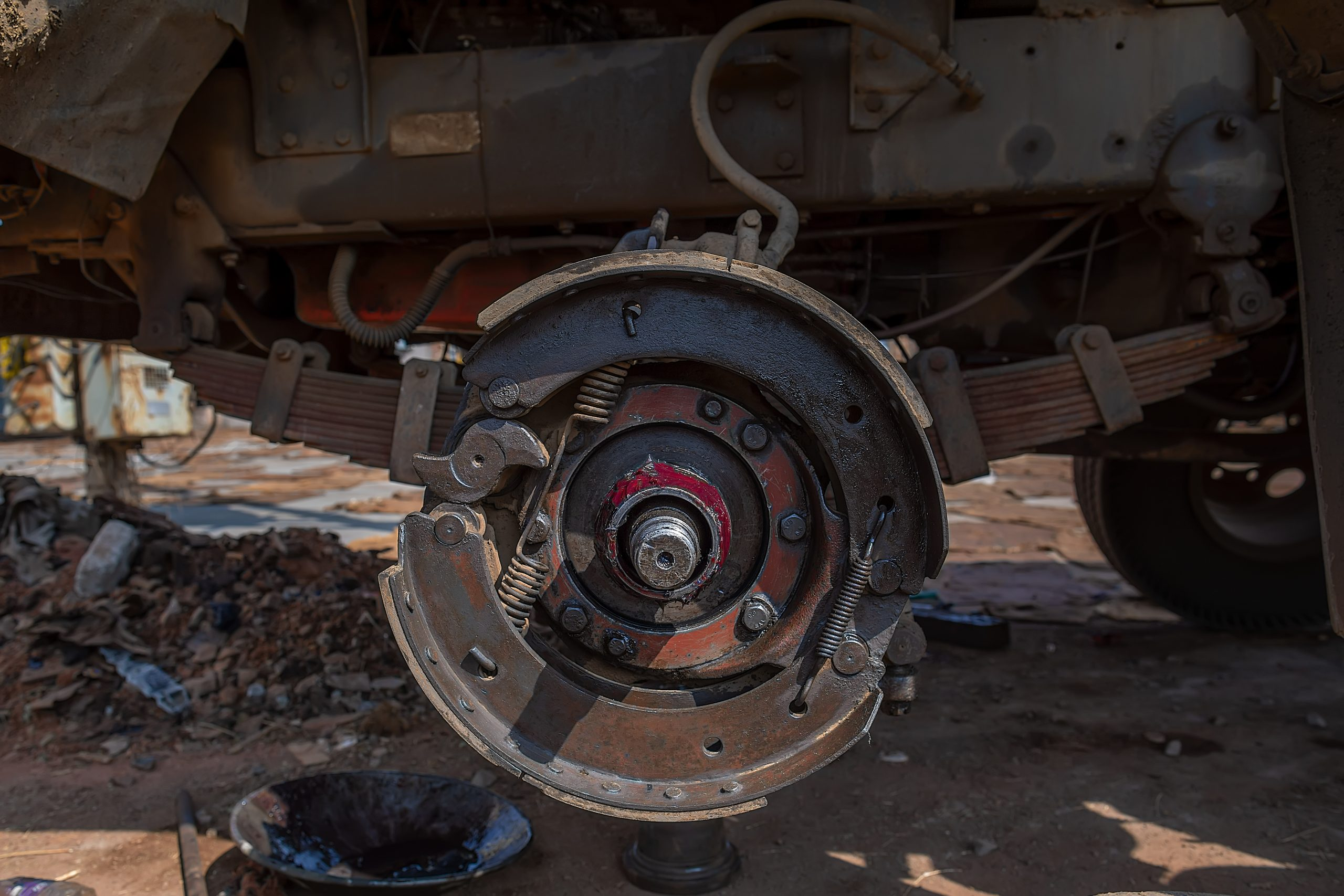Wheel hub of a truck