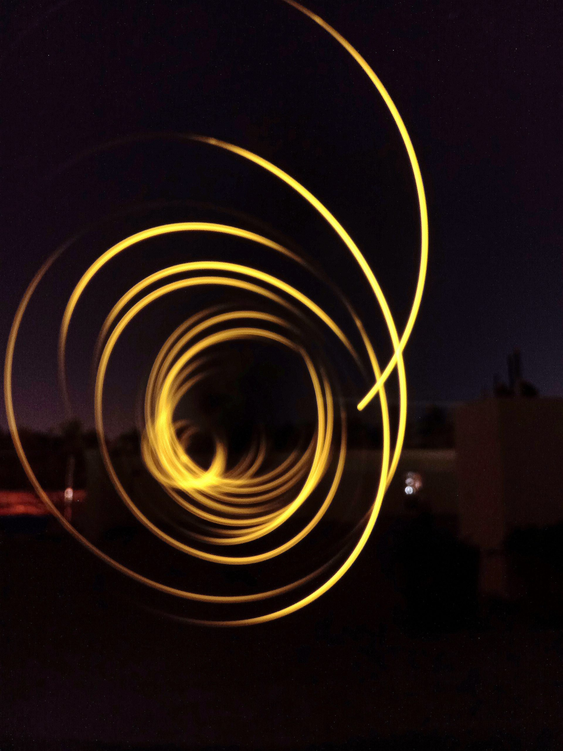 Spiral light trails