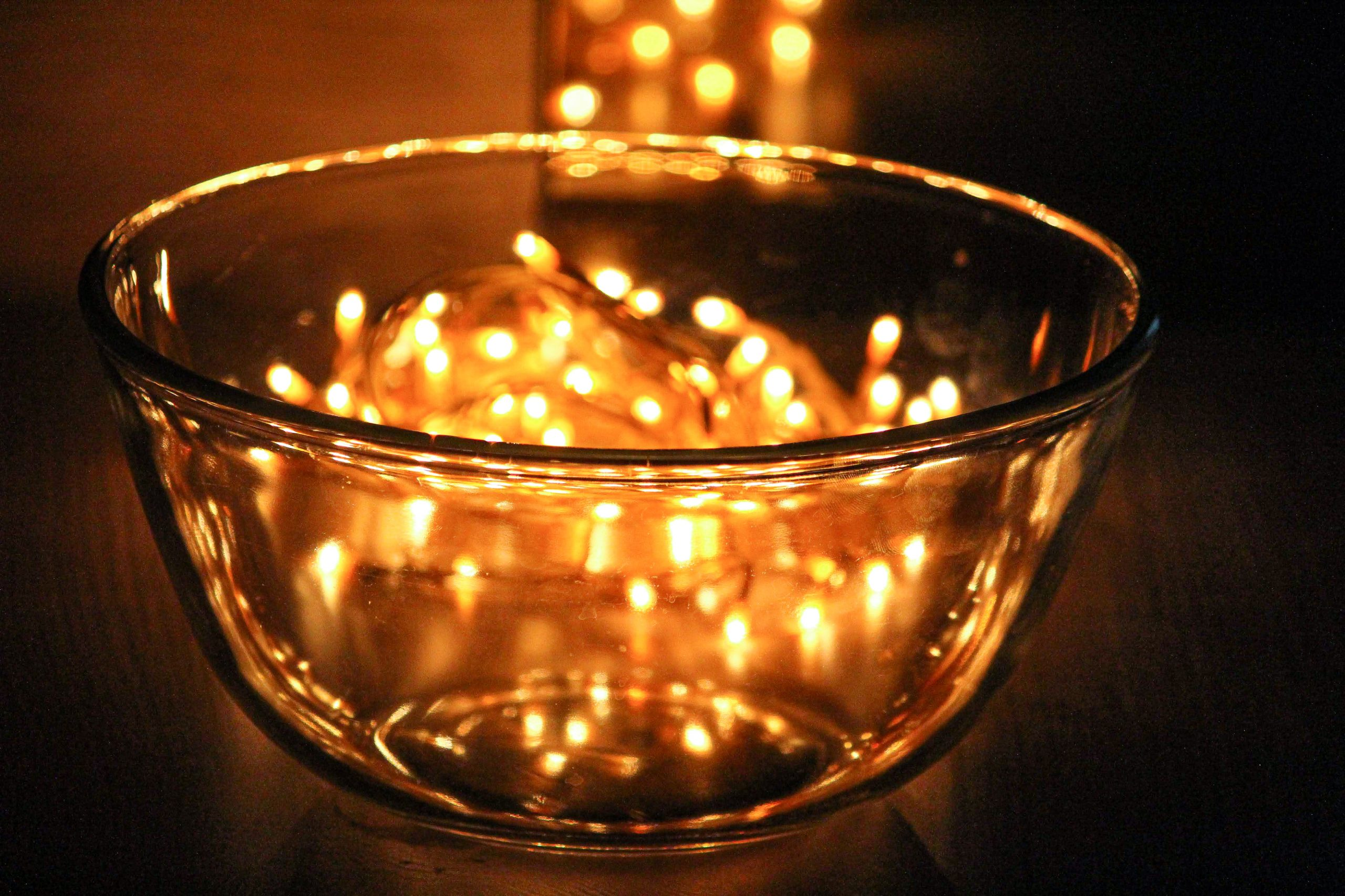 ferry lights in a bowl