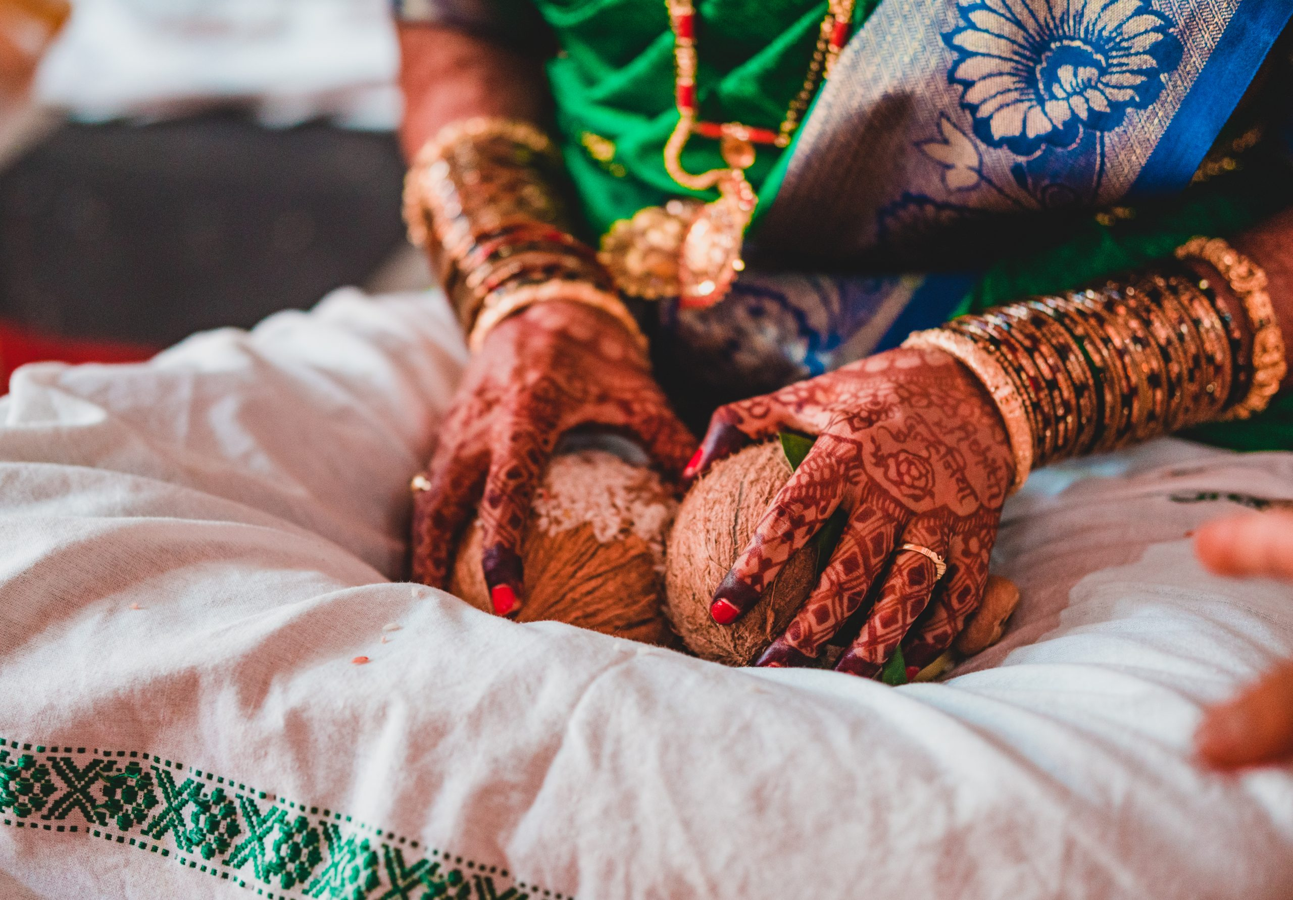 An Indian bride hands