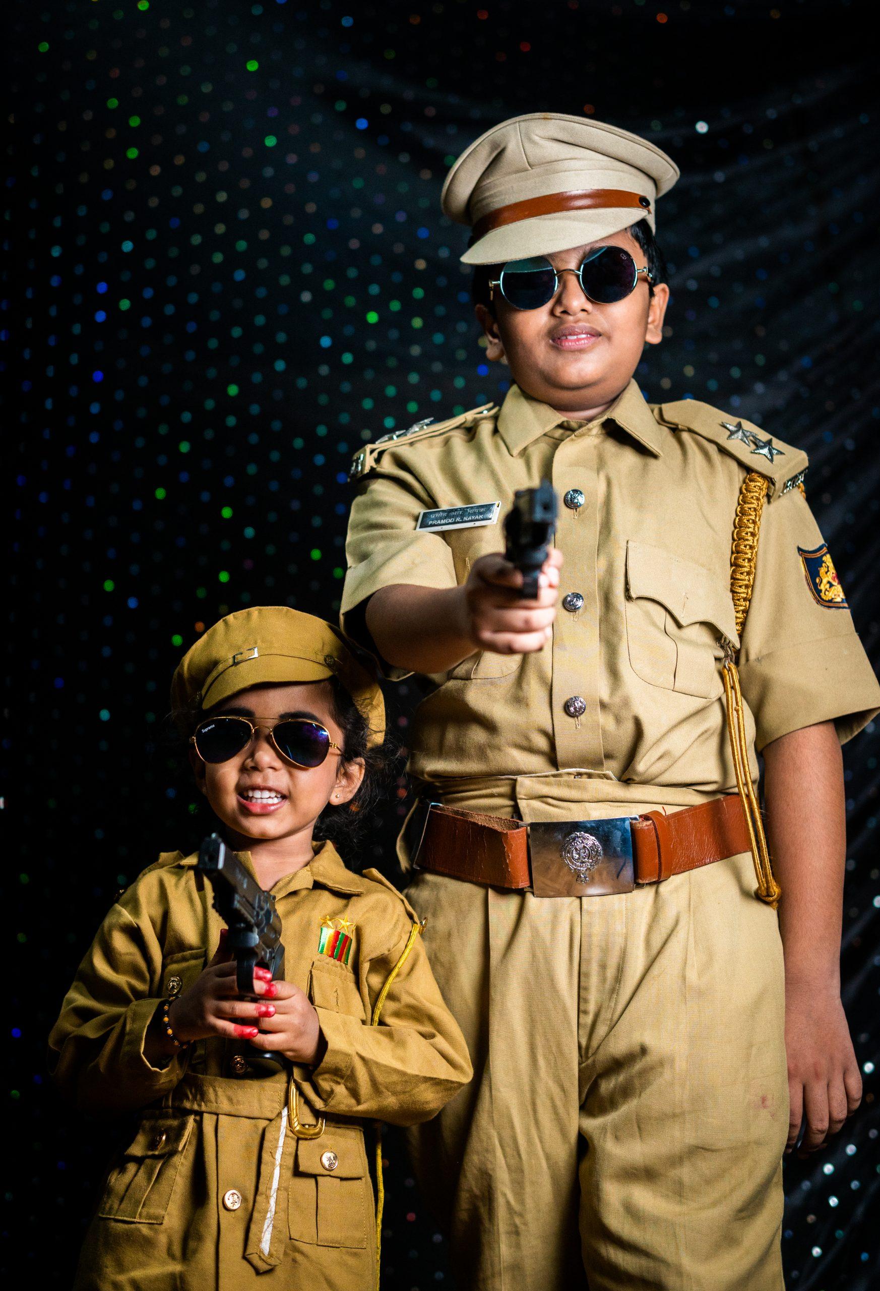 Kids in police makeover