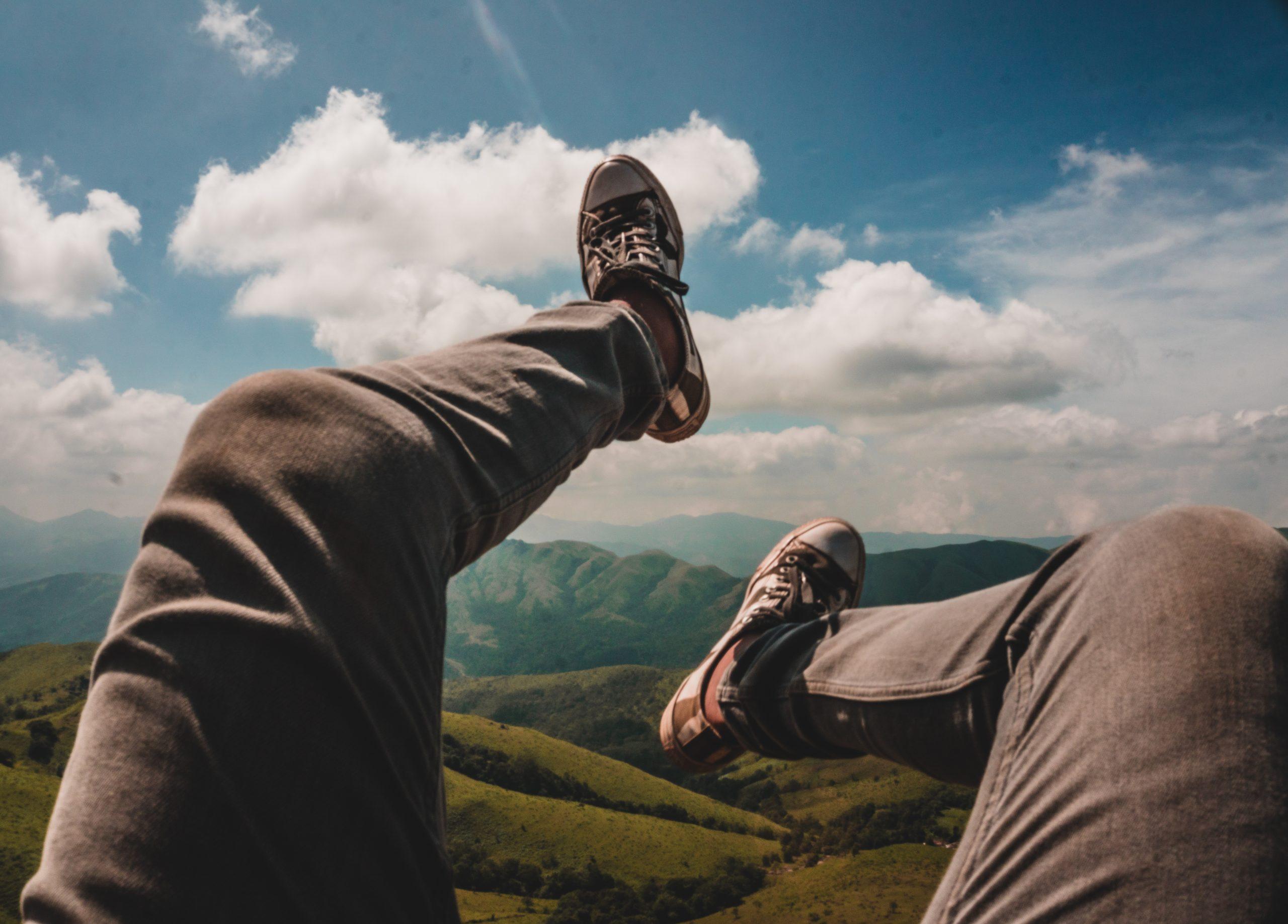 Legs toward sky
