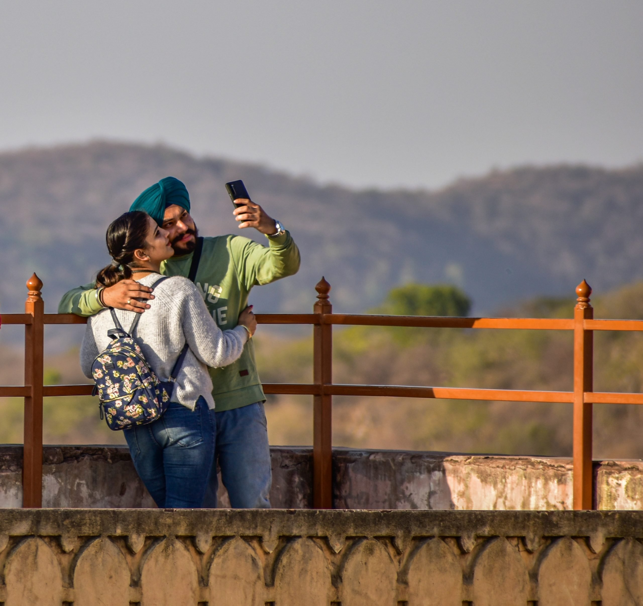 A Punjabi couple taking selfie