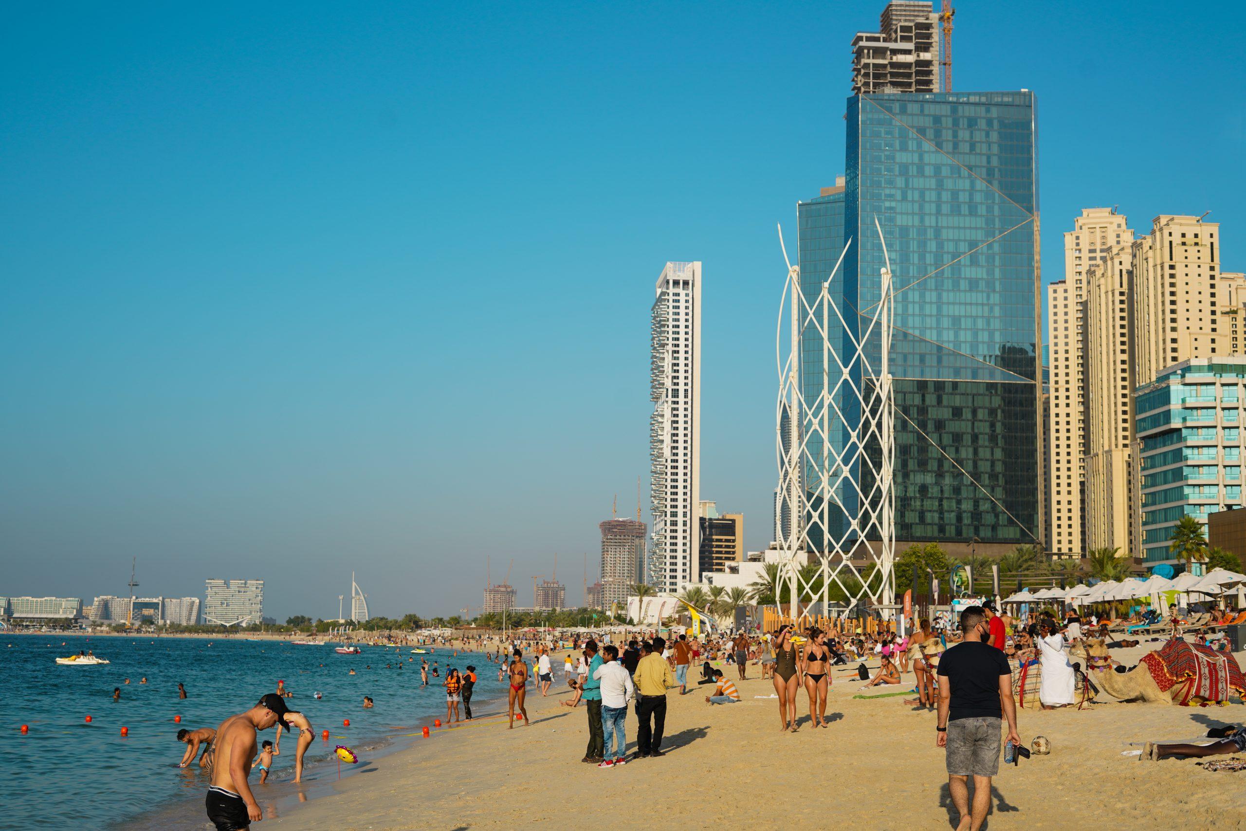 A beach in Dubai