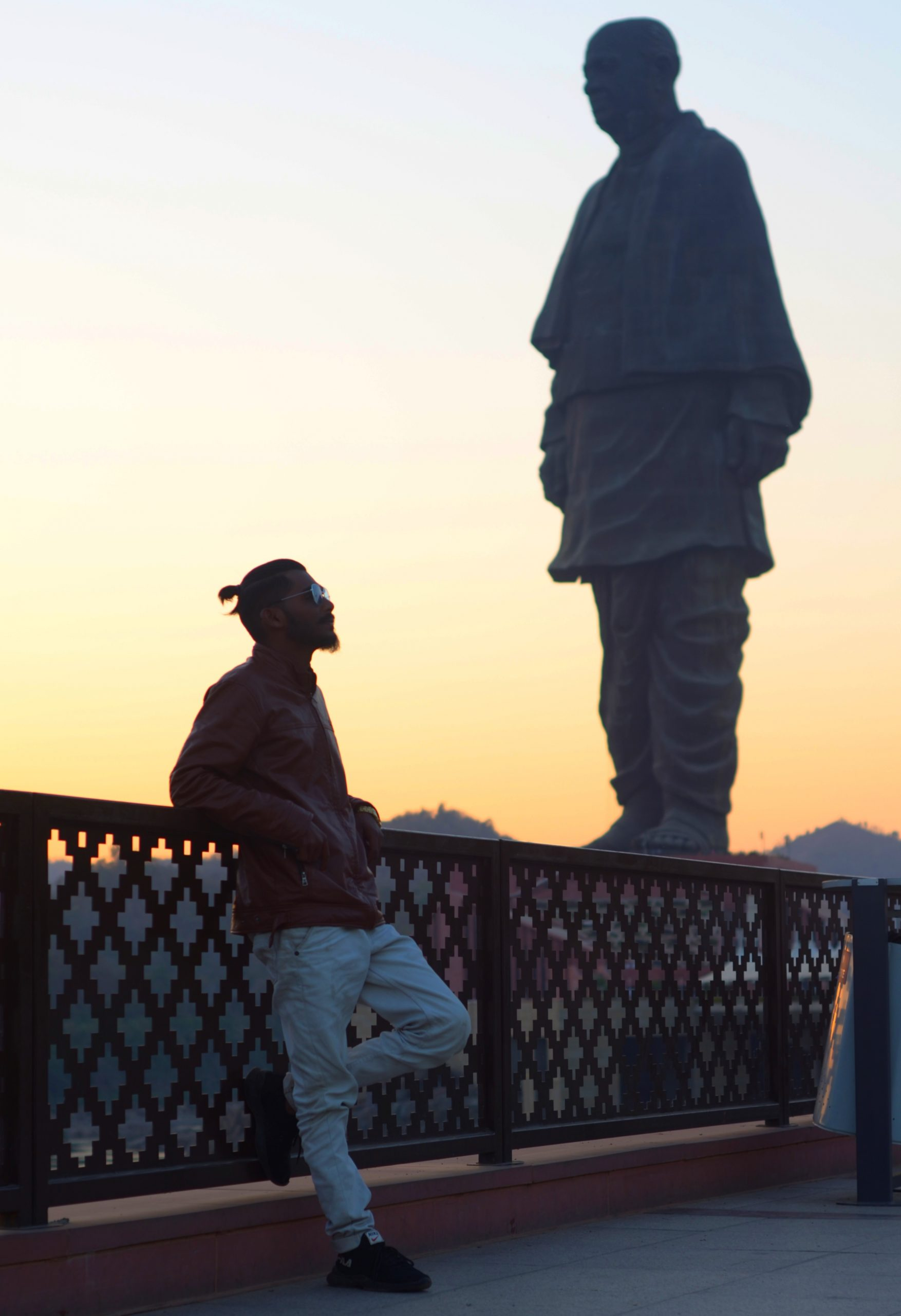 A boy at Statue of Unity complex