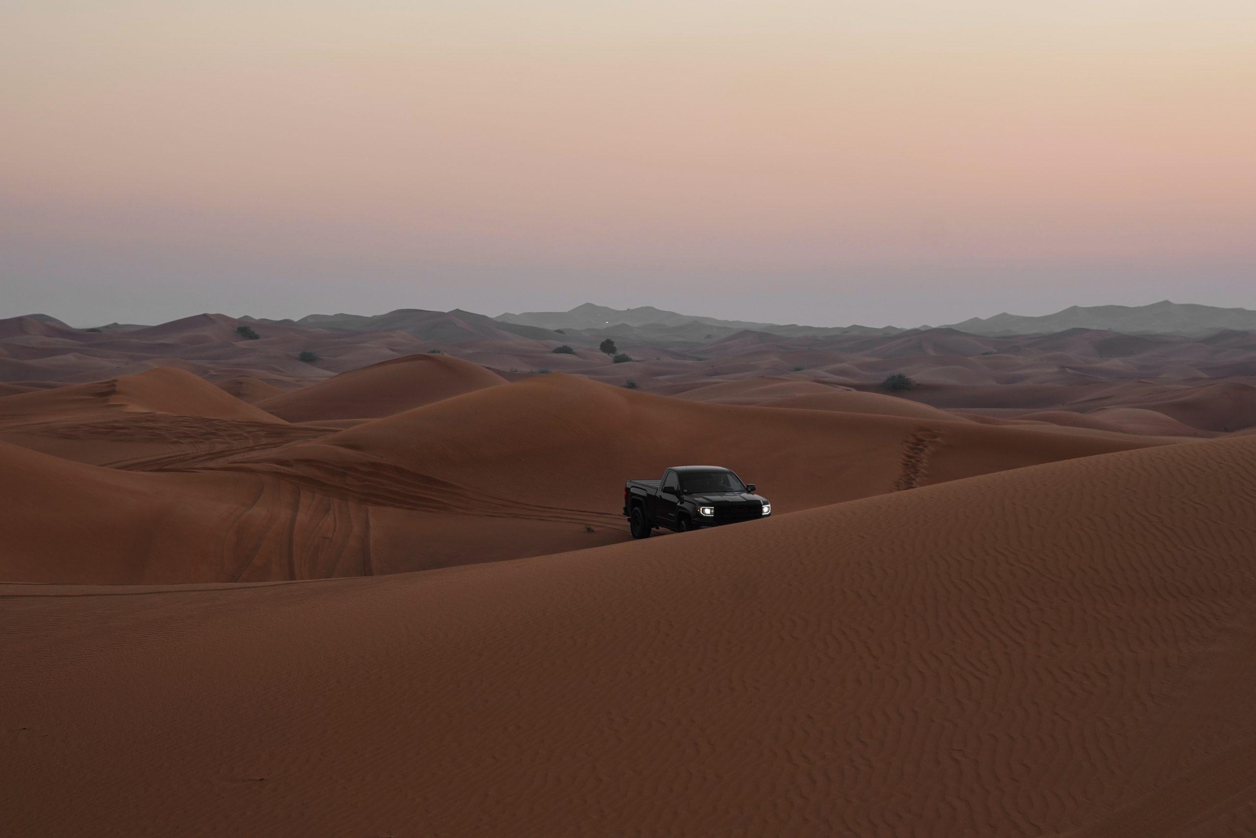 A car in a desert