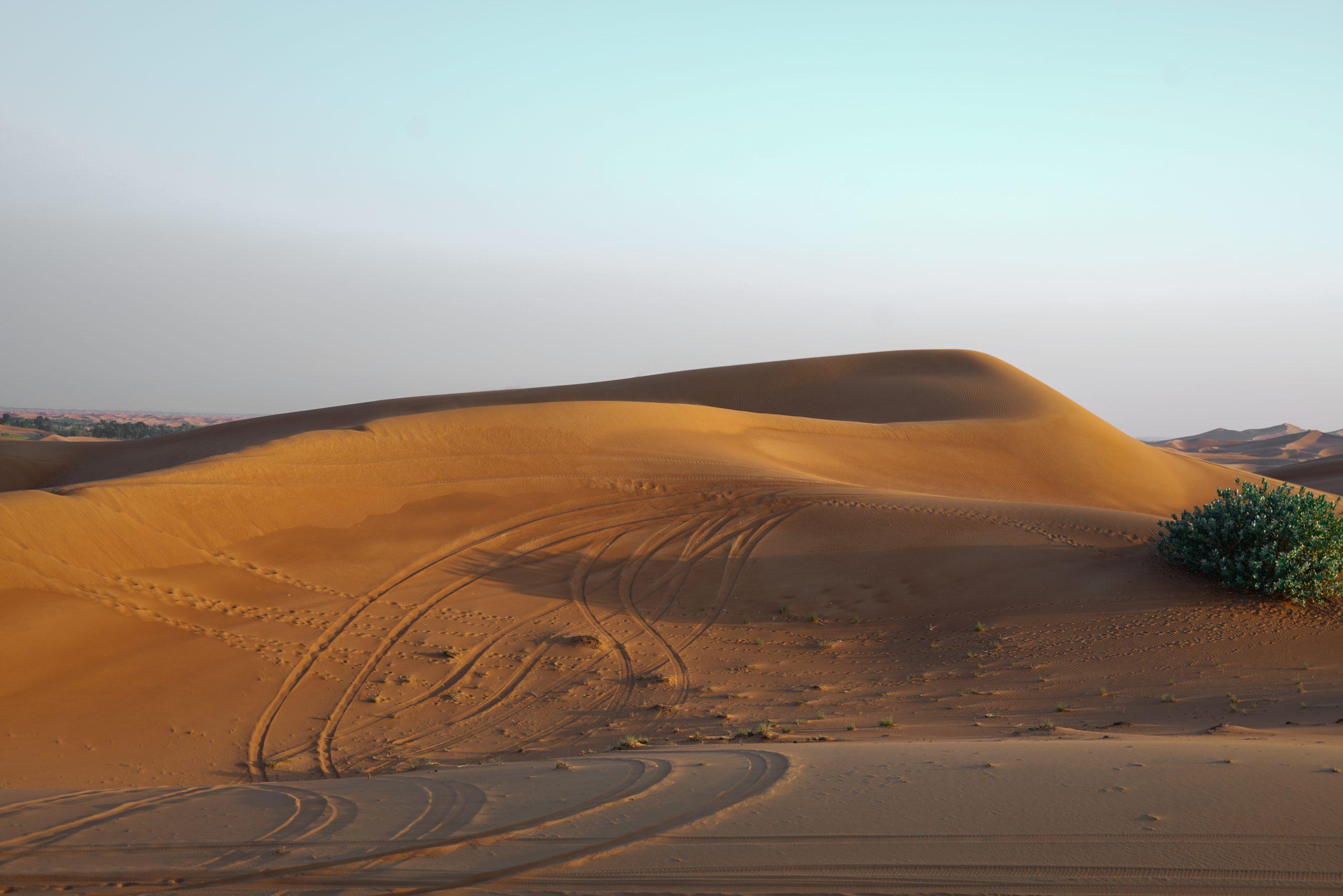 A desert in Dubai