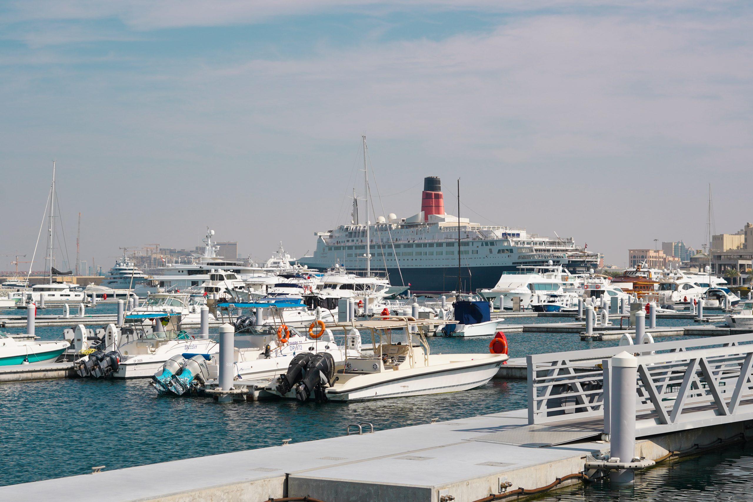 A dockyard in Dubai