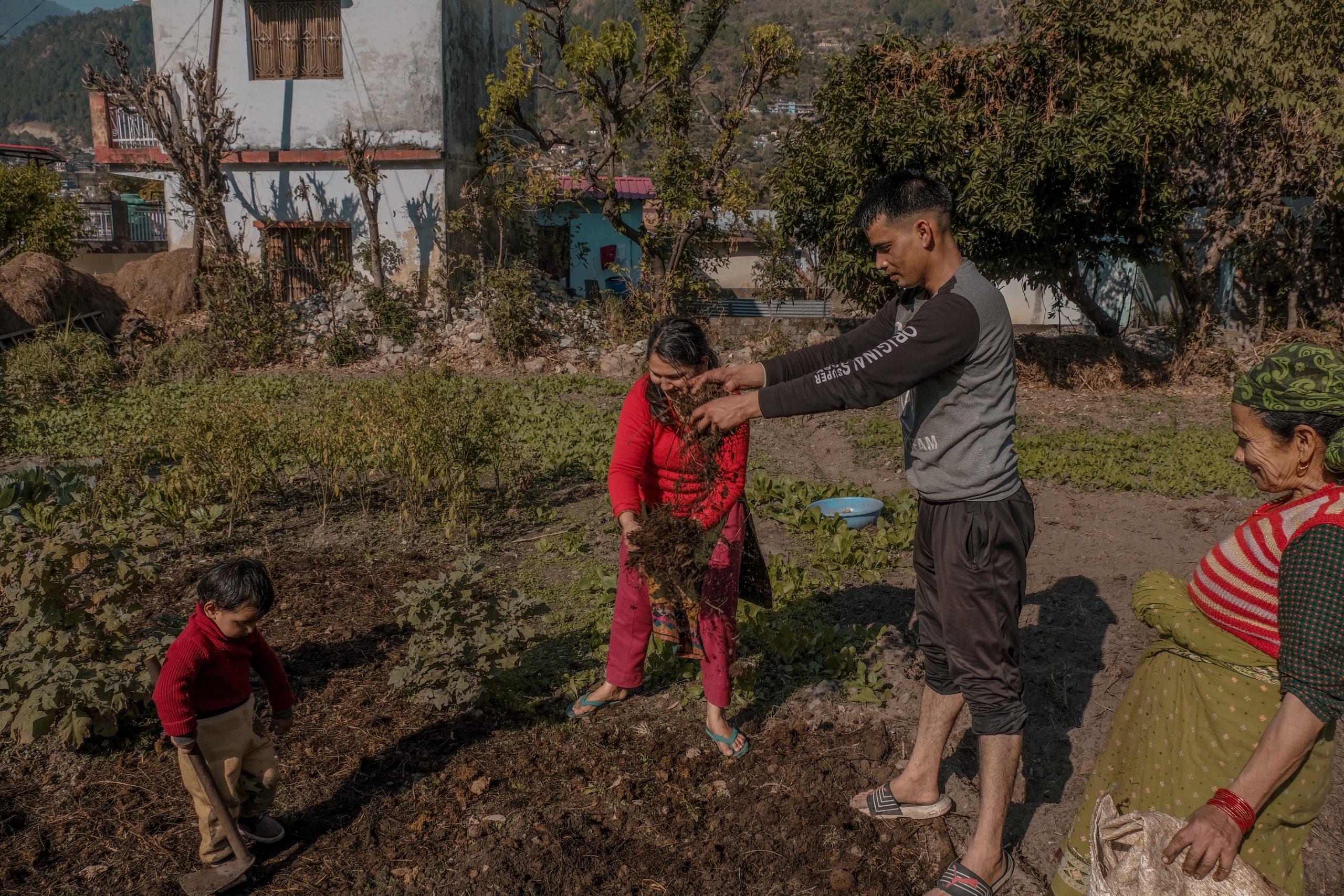 A farmer family