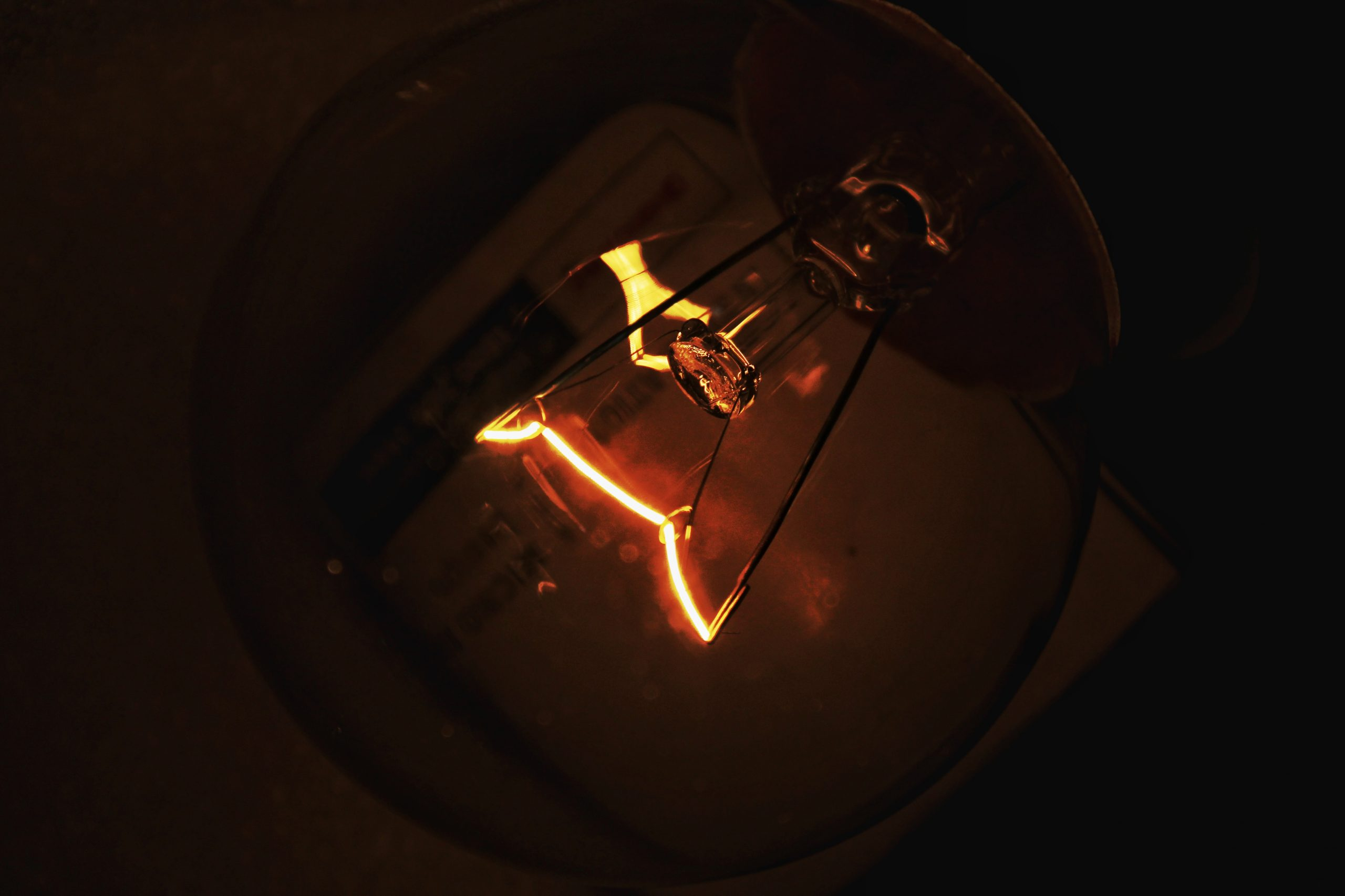 A filament light bulb
