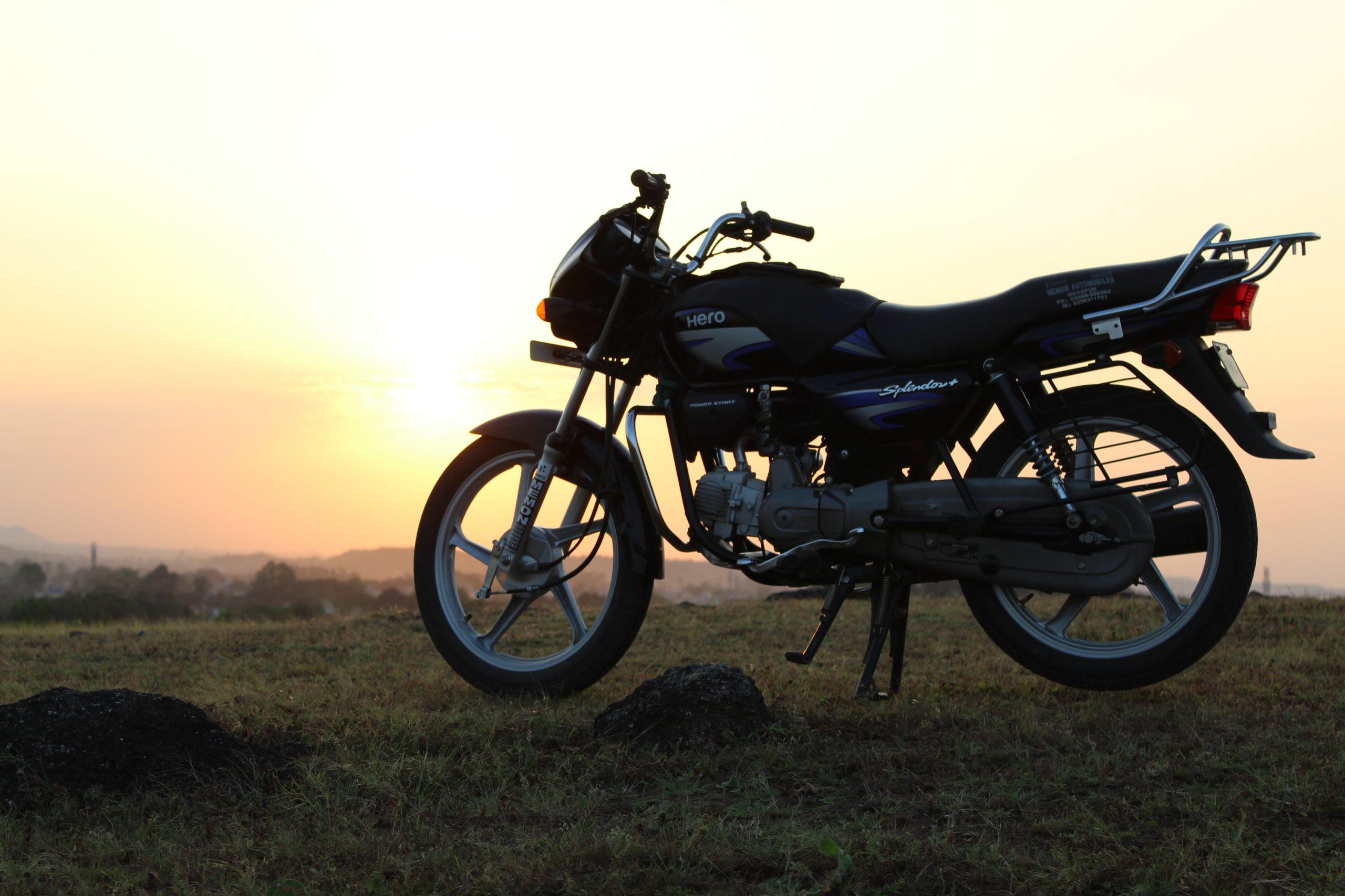 A hero splendor bike