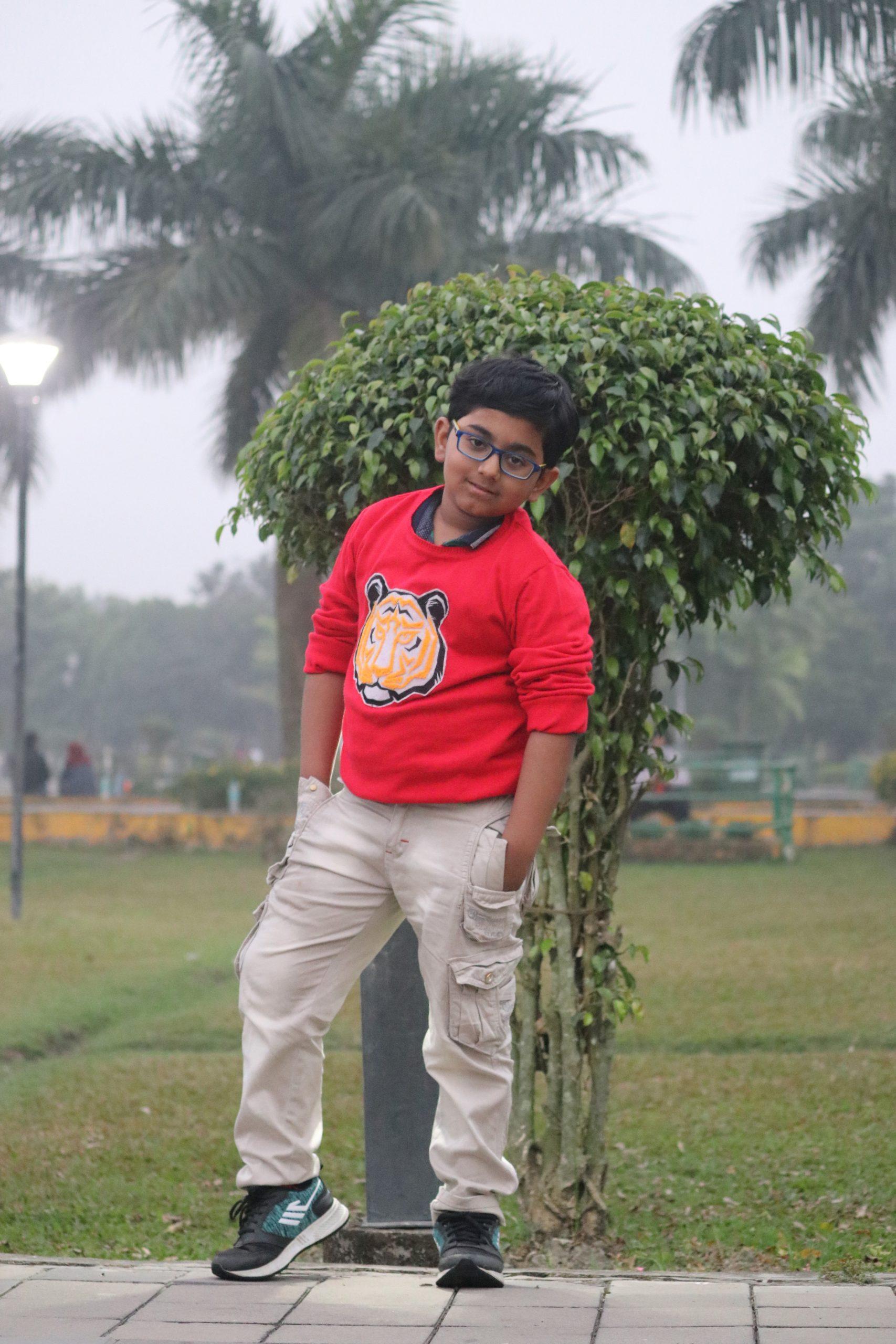A little boy posing