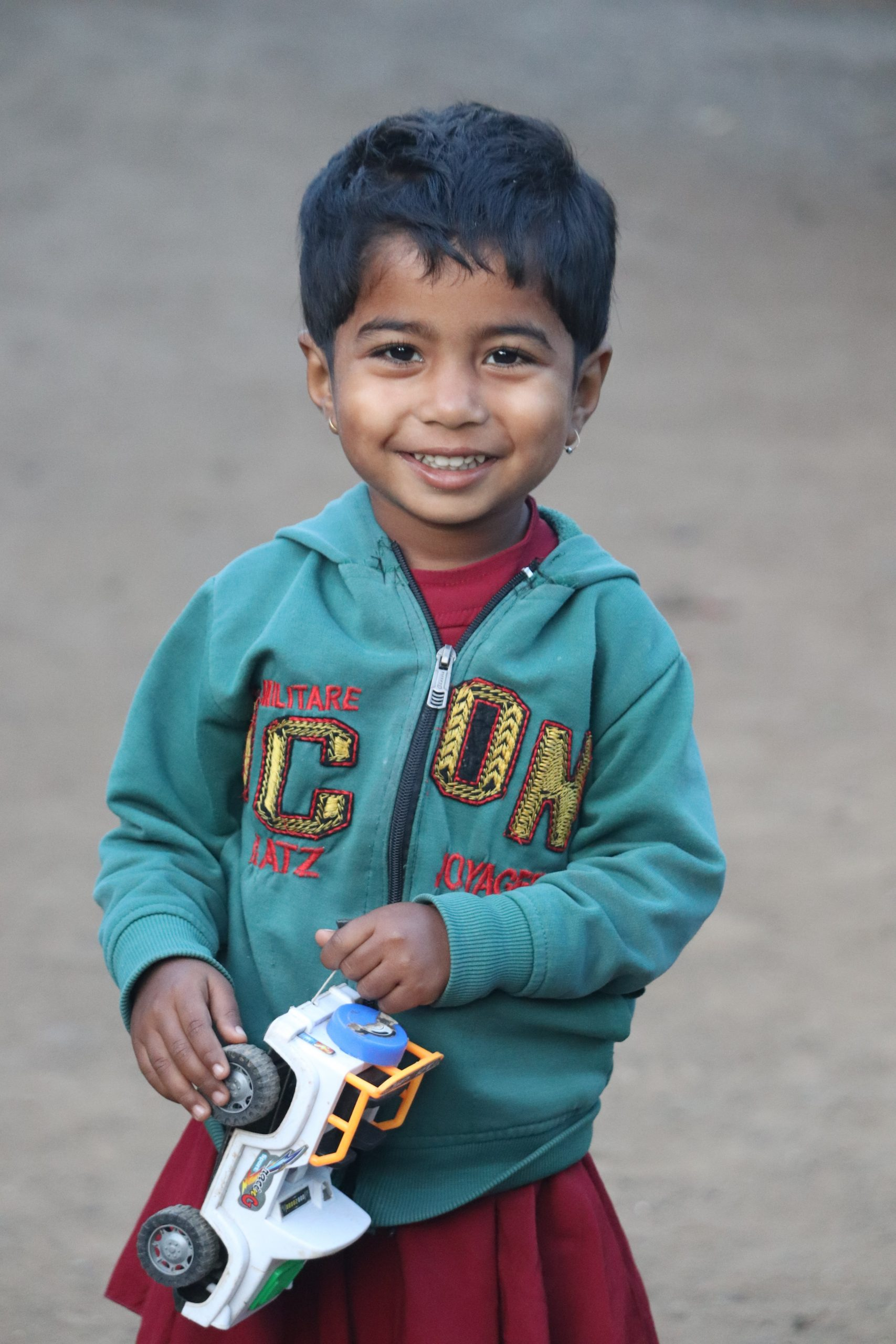 A little boy with toy