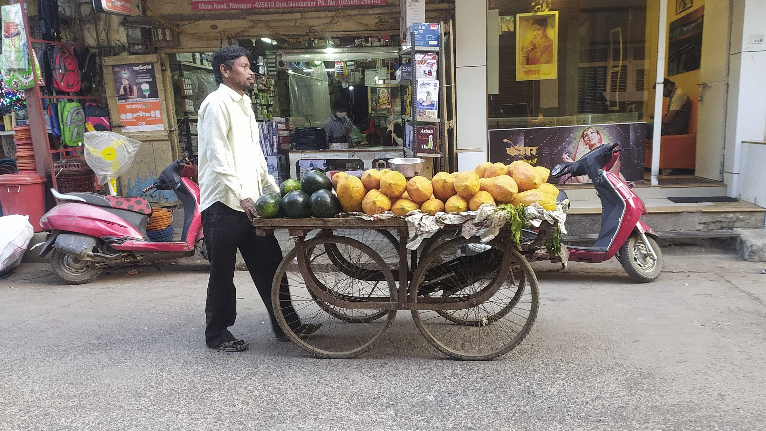 fruit seller with his cart