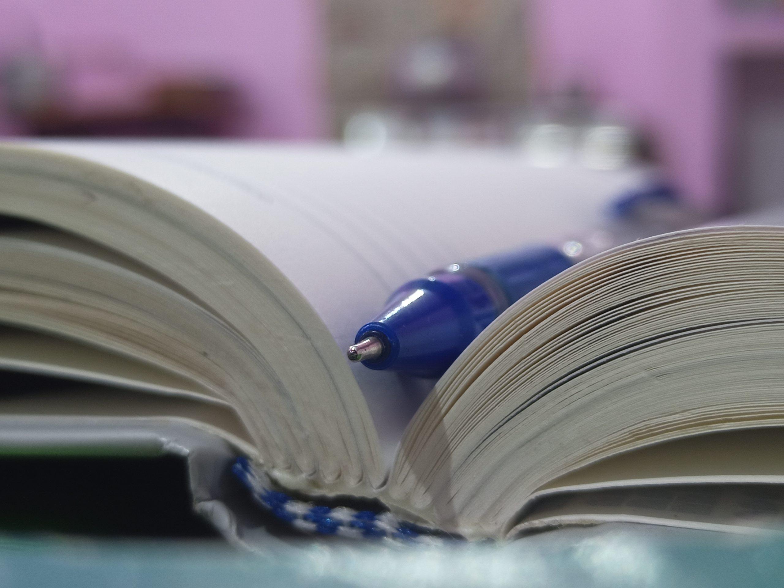 A pen in a book