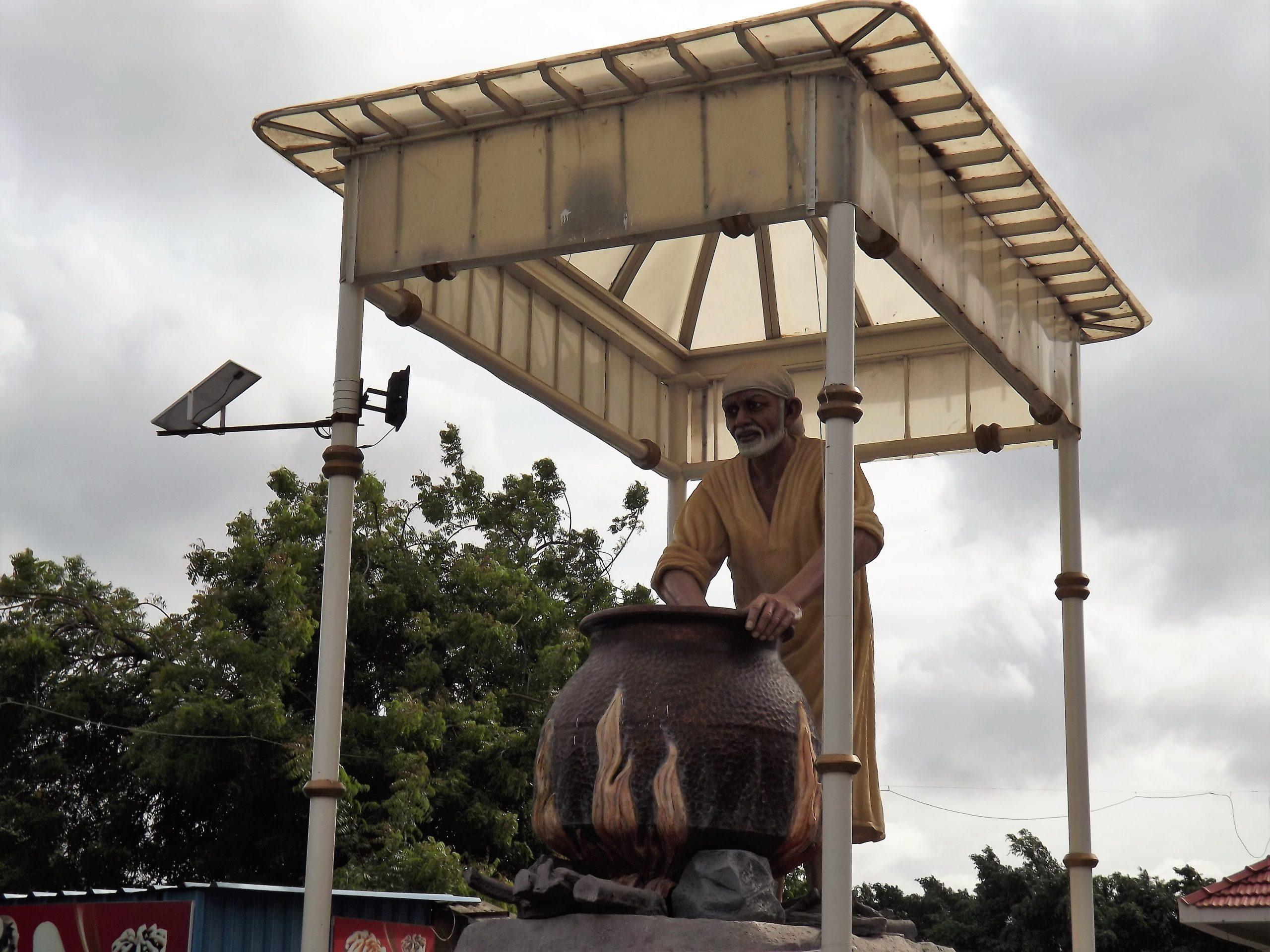 A statue of Sai Baba