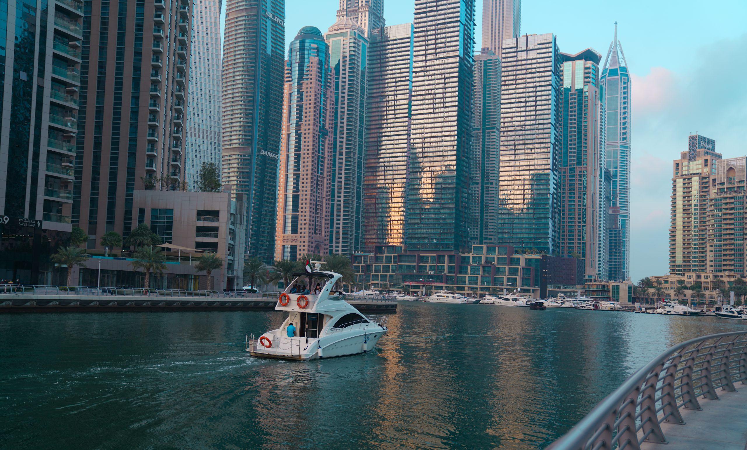 A water way in Dubai city